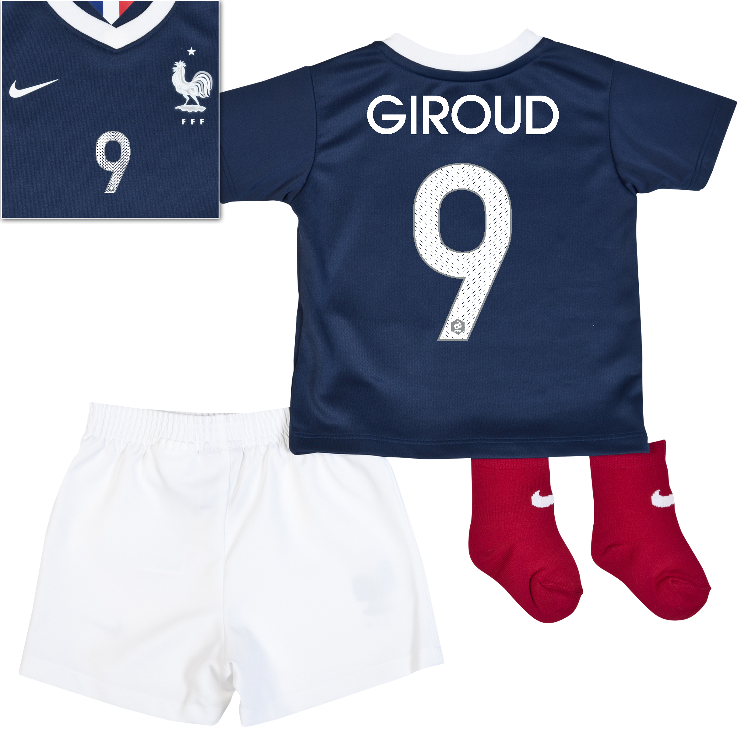 France Home Kit 2013/15 - Little Boys Navy with Giroud 9 printing
