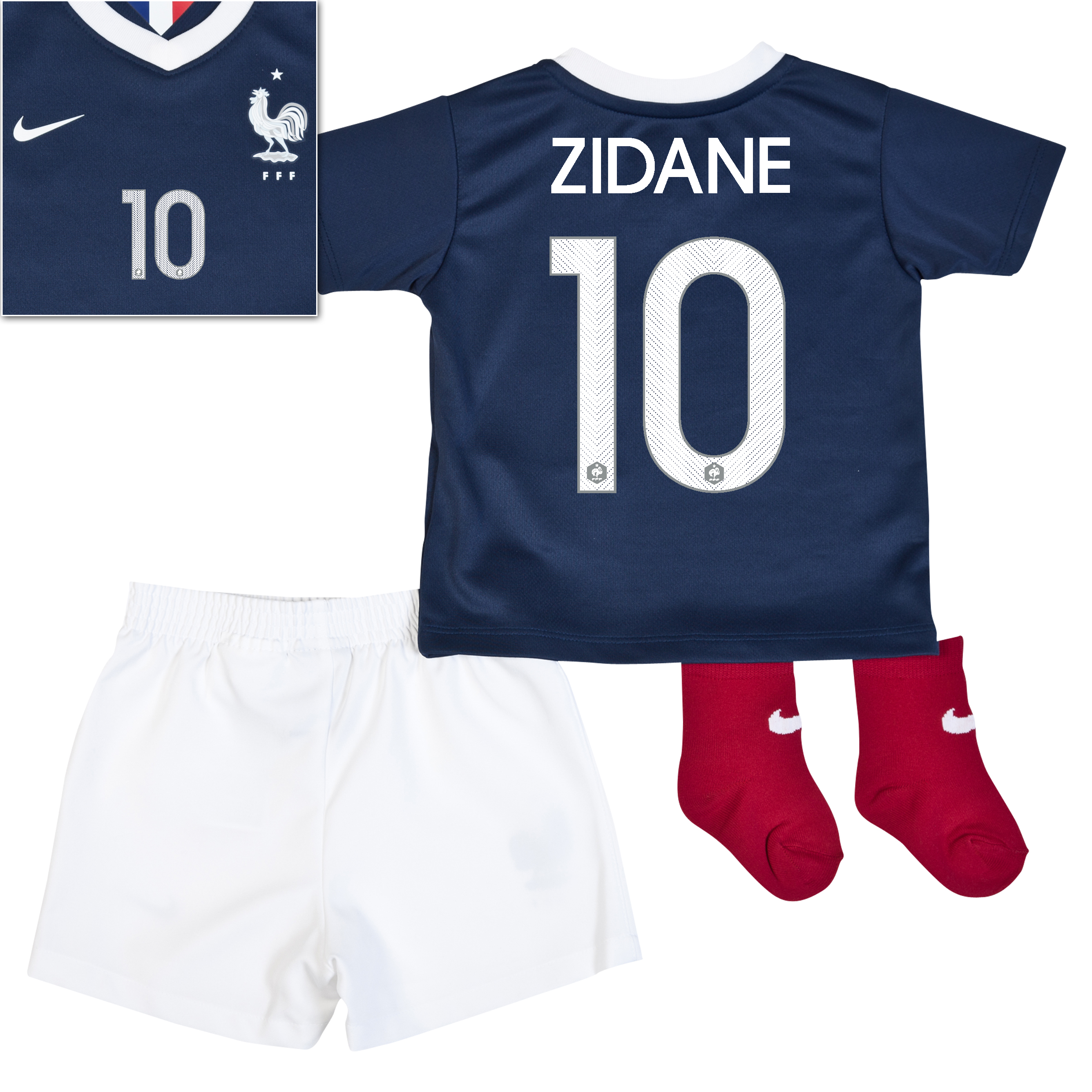 France Home Kit 2013/15 - Little Boys Navy with Zidane 10 printing