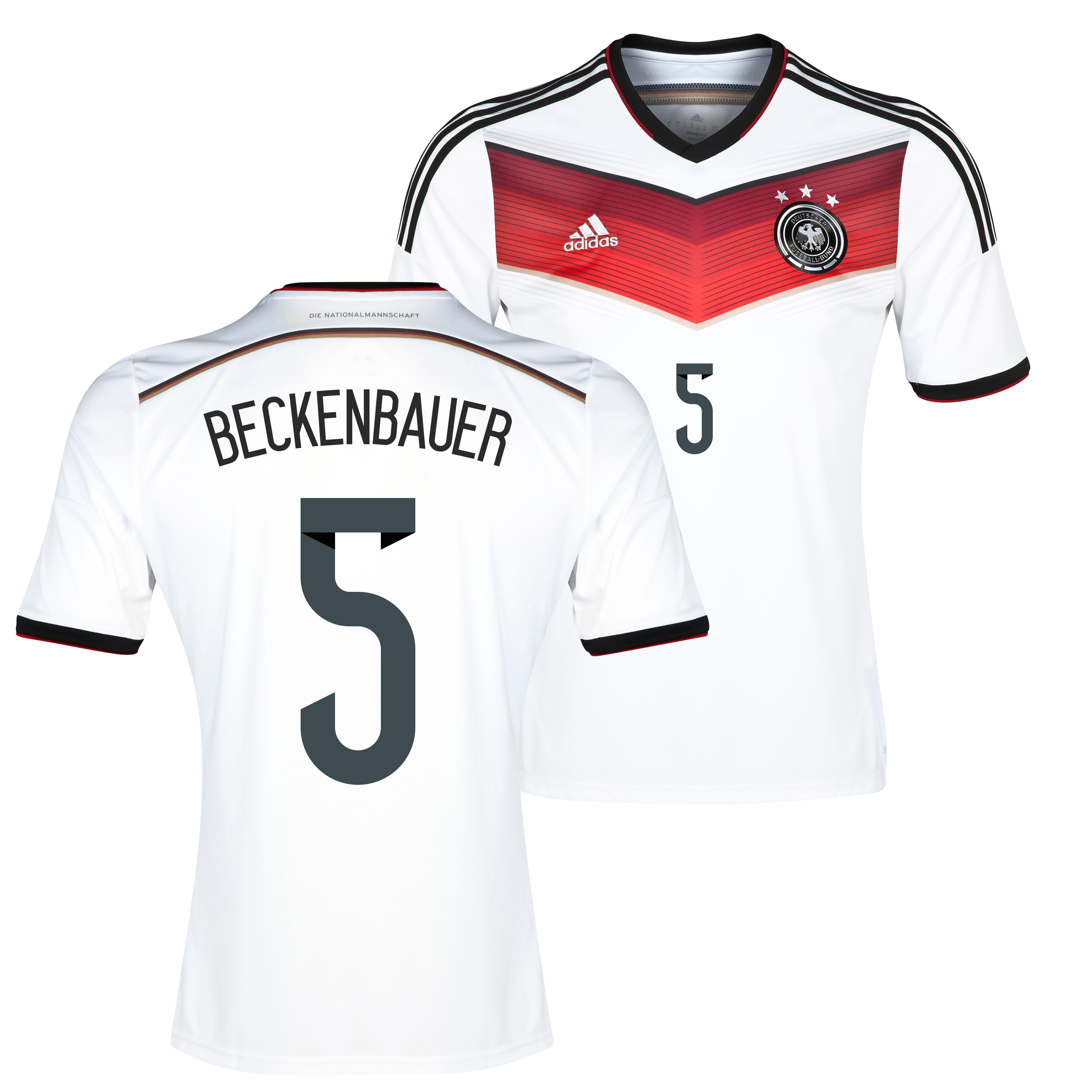 Germany Home Shirt 2013/15 with Beckenbauer 5 printing