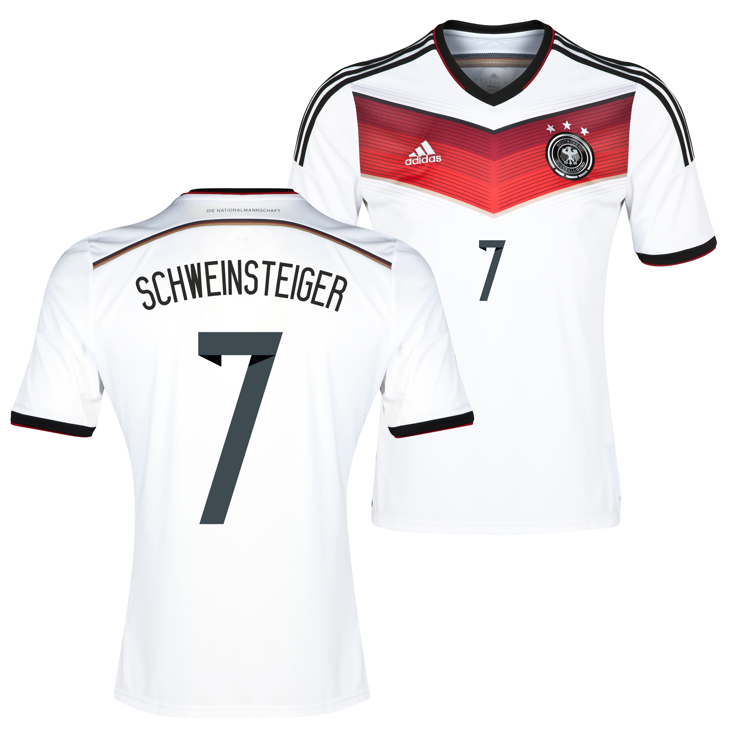 Germany Home Shirt 2013/15 with Schweinsteiger 7 printing