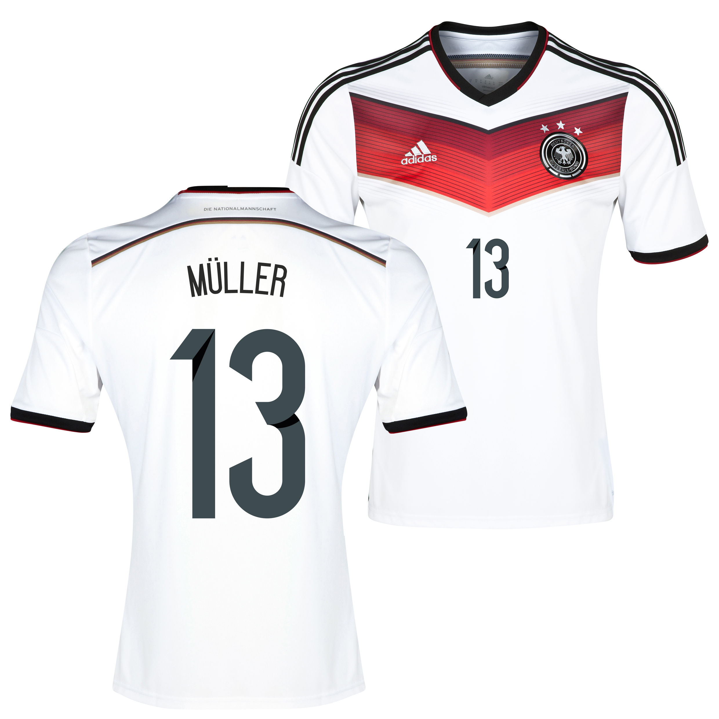 Germany Home Shirt 2013/15 with Muller 13 printing