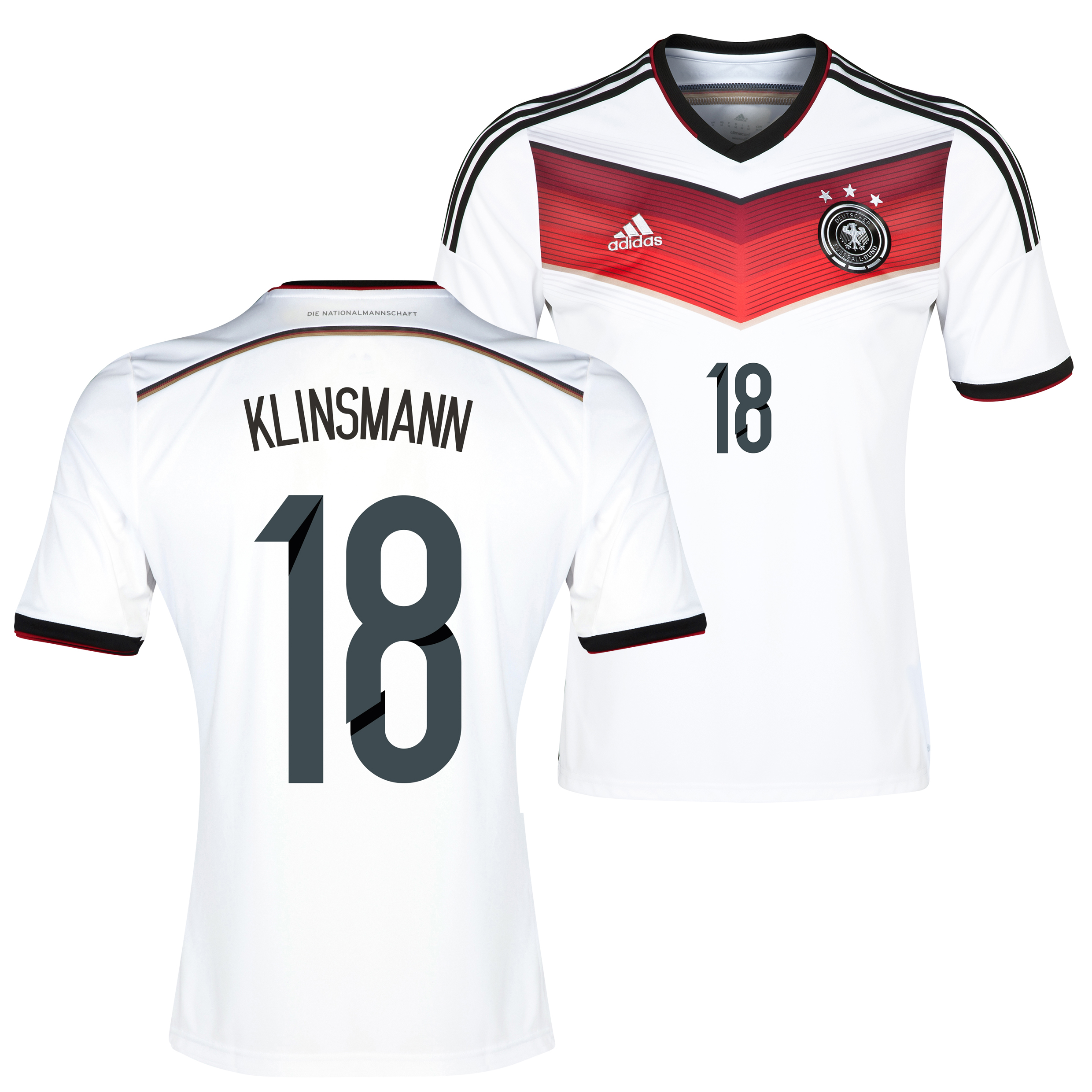Germany Home Shirt 2013/15 with Klinsmann 18 printing