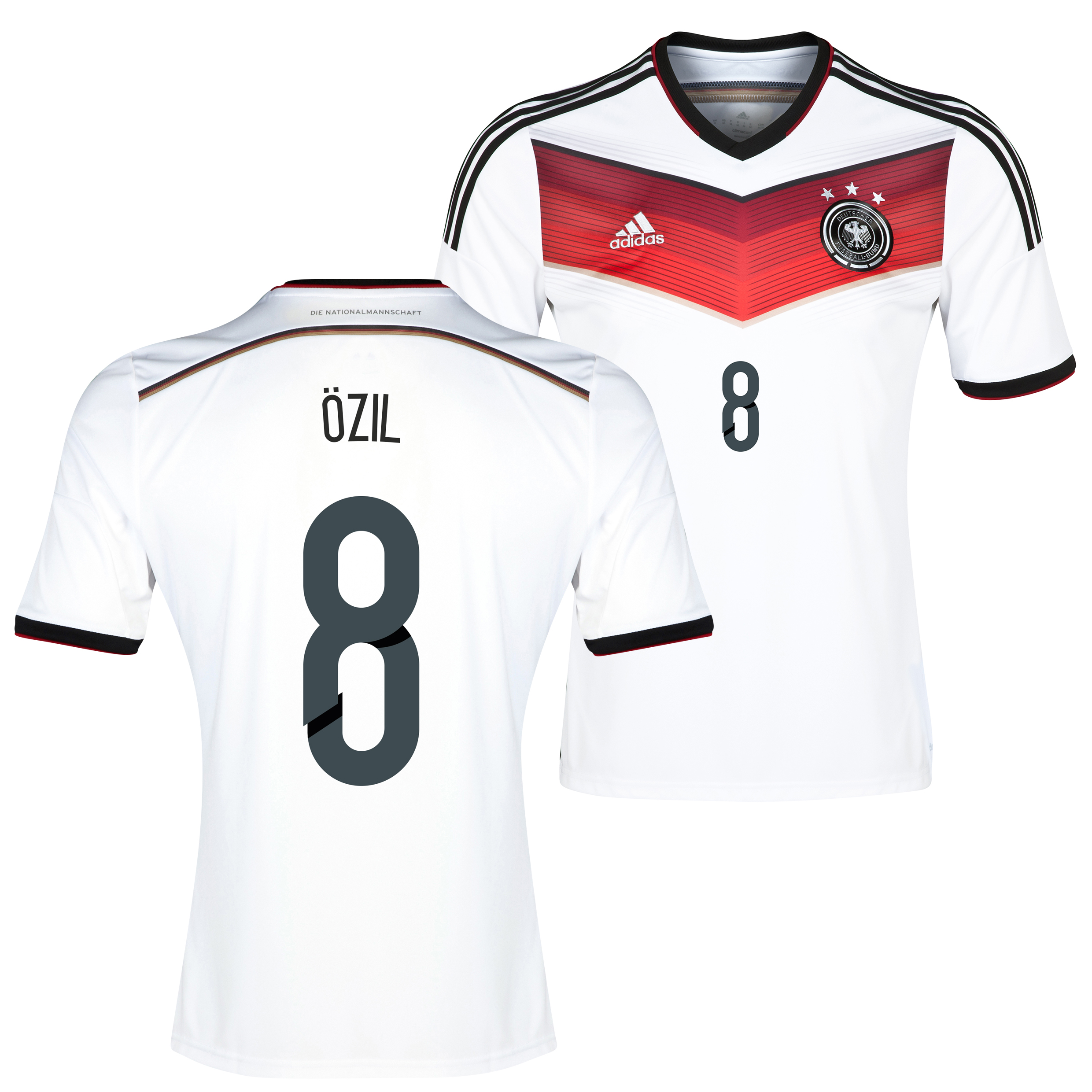 Germany Home Shirt 2013/15 - Kids with Ozil 8 printing
