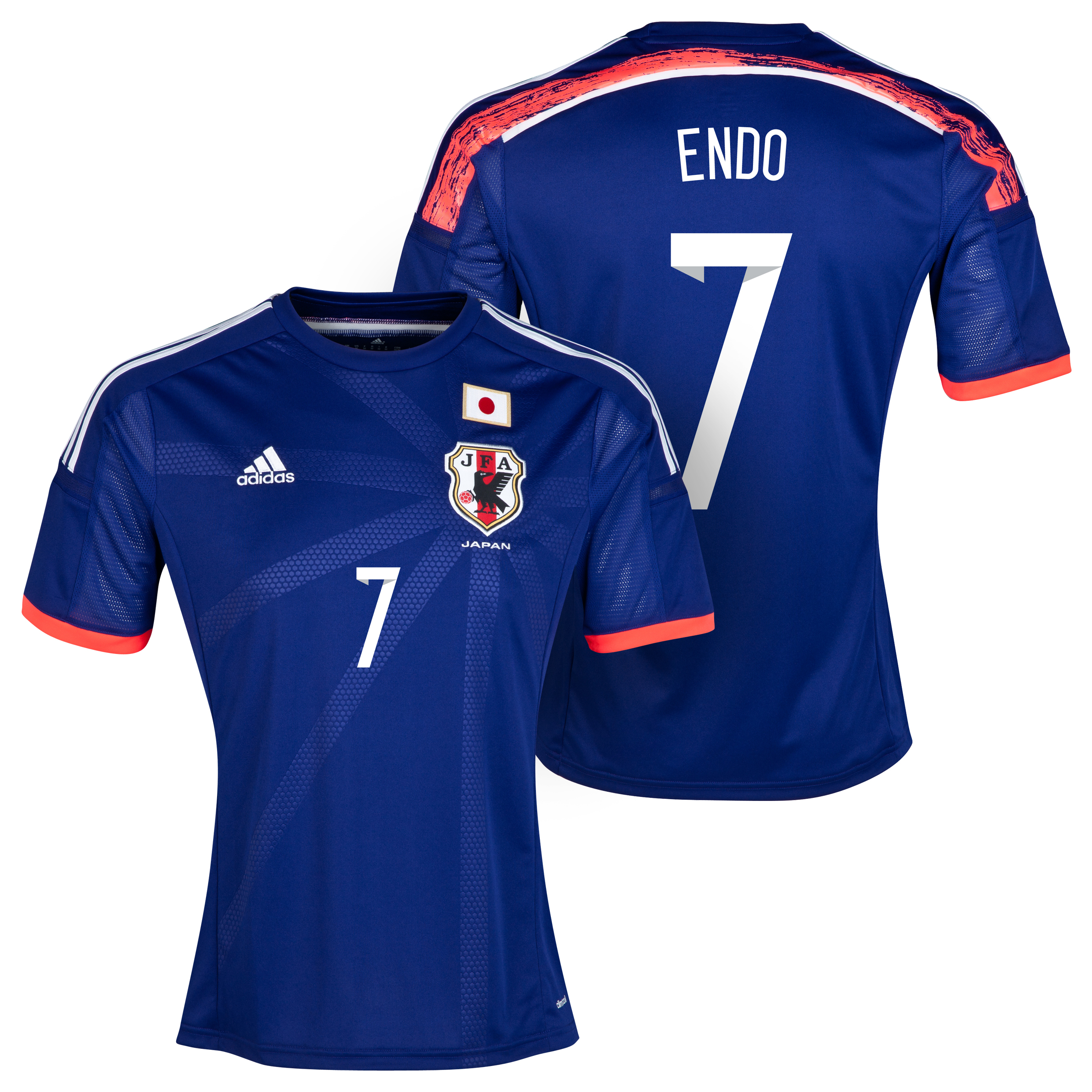 Japan Home Shirt 2013/15 with Endo 7 printing