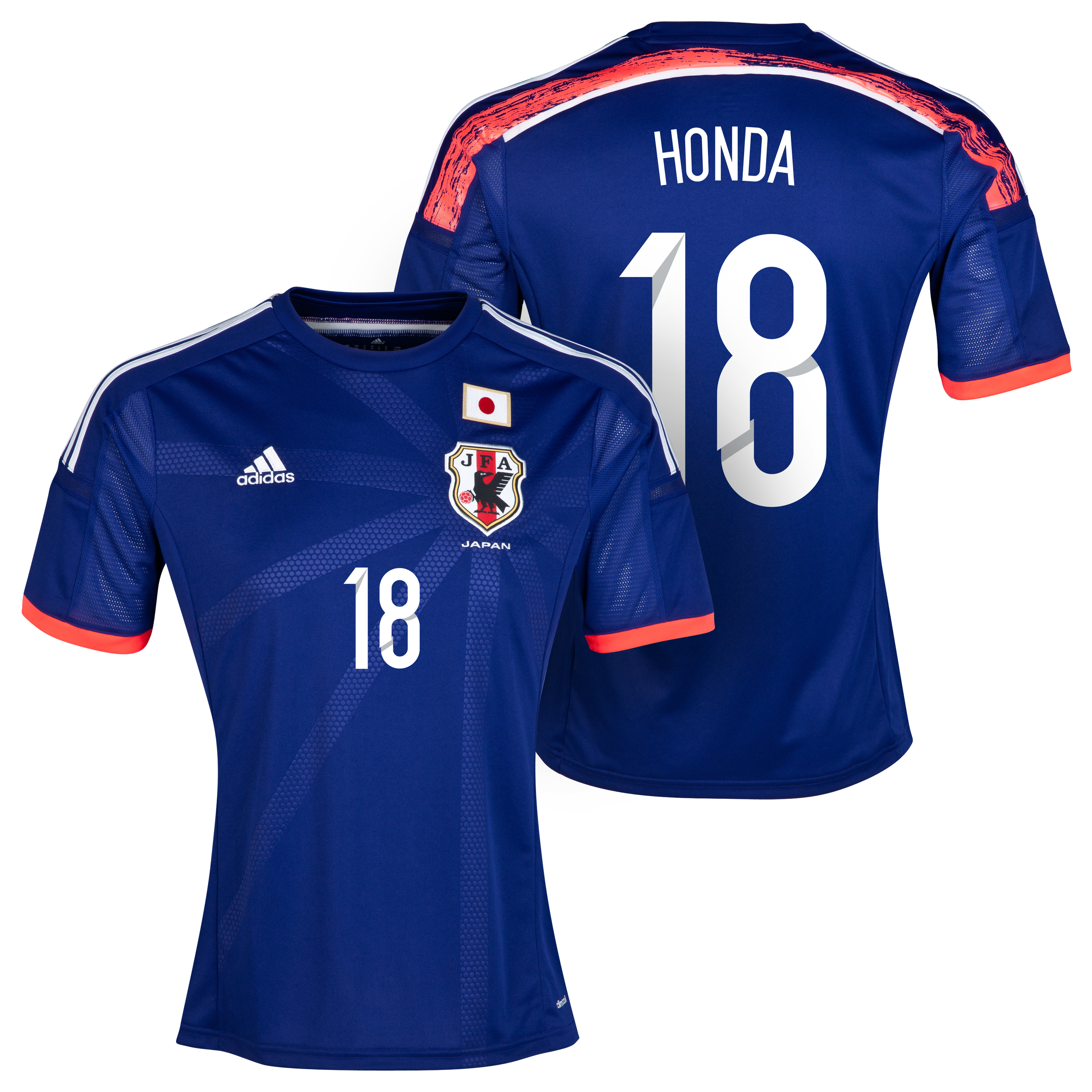 Japan Home Shirt 2013/15 with Honda 18 printing