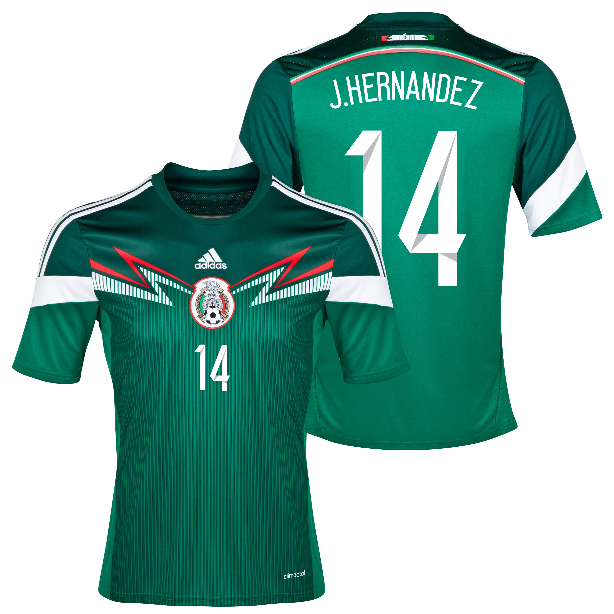 Mexico Home Shirt 2013/15 with Chicharito 14 printing