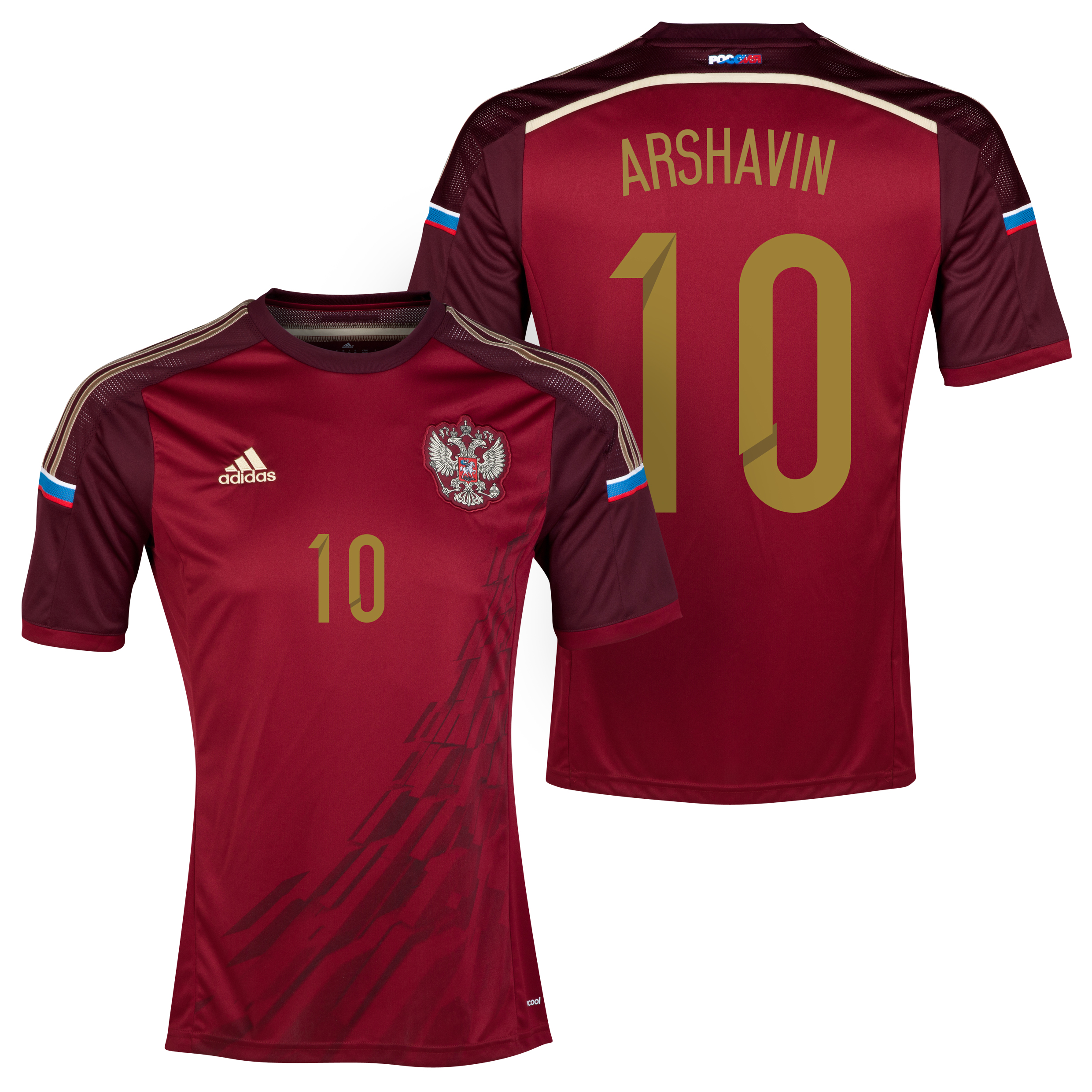 Russia Home Shirt 2013/15 with Arshavin 10 printing