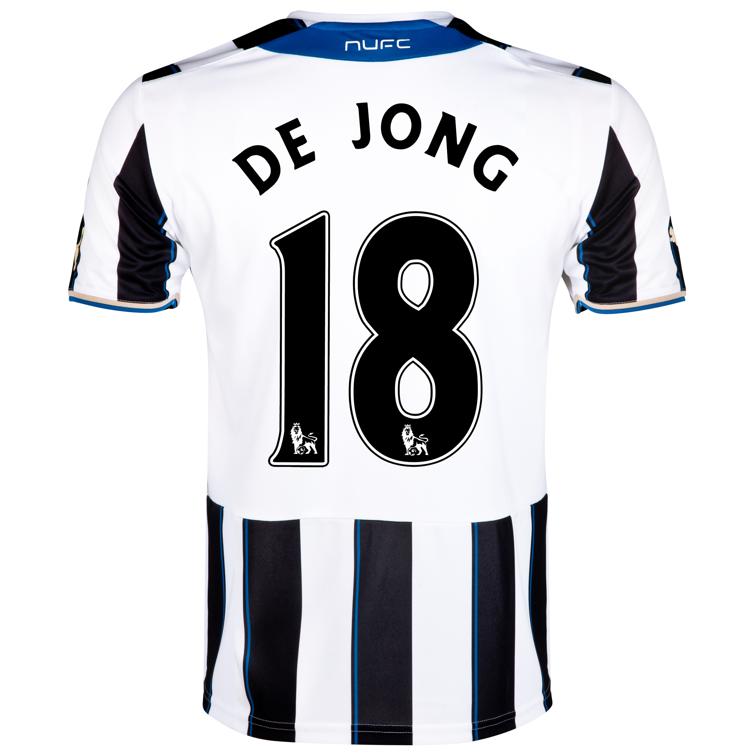 Newcastle United Home Shirt 2013/14 with De Jong 18 printing