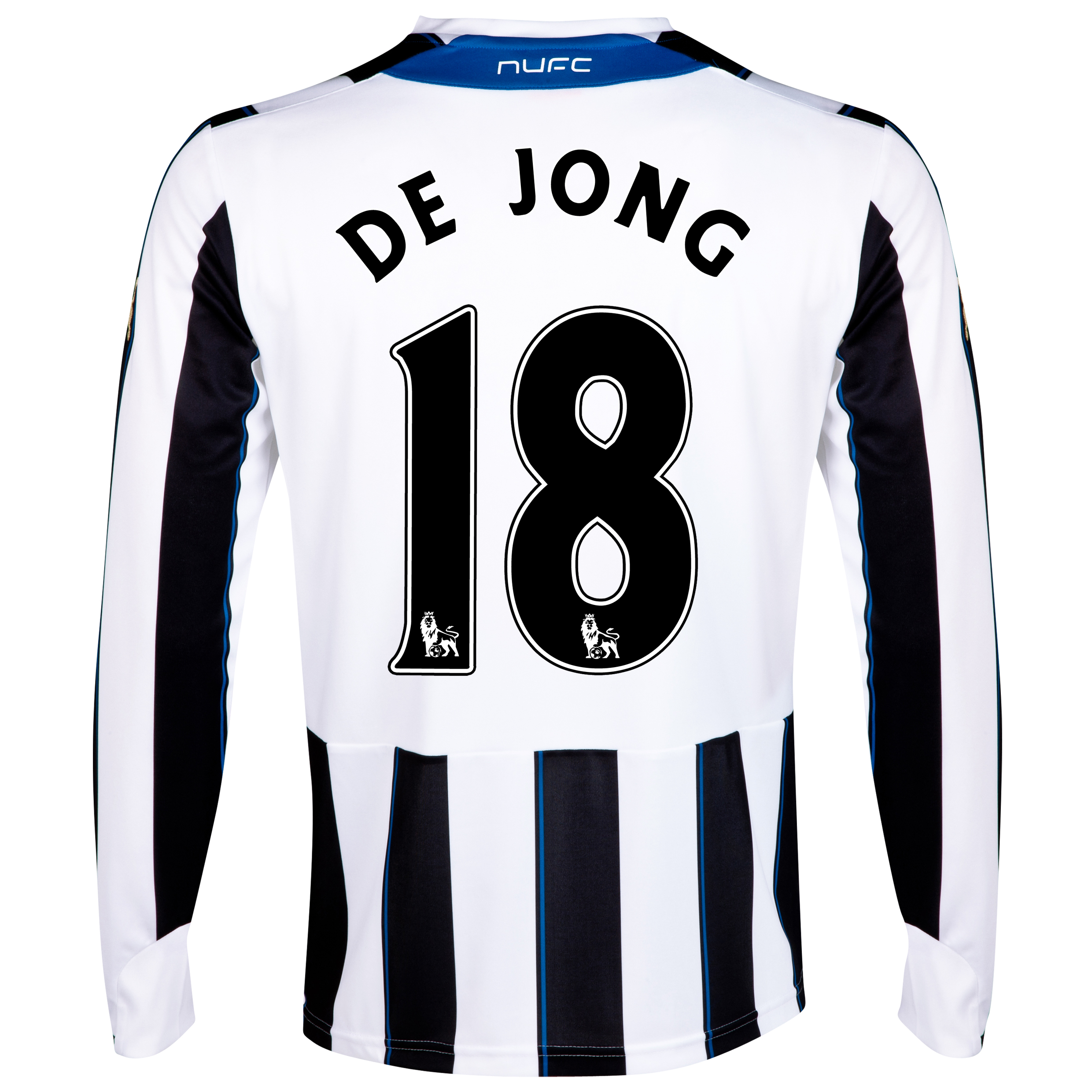 Newcastle United Home Shirt 2013/14 - Long Sleeve with De Jong 18 printing