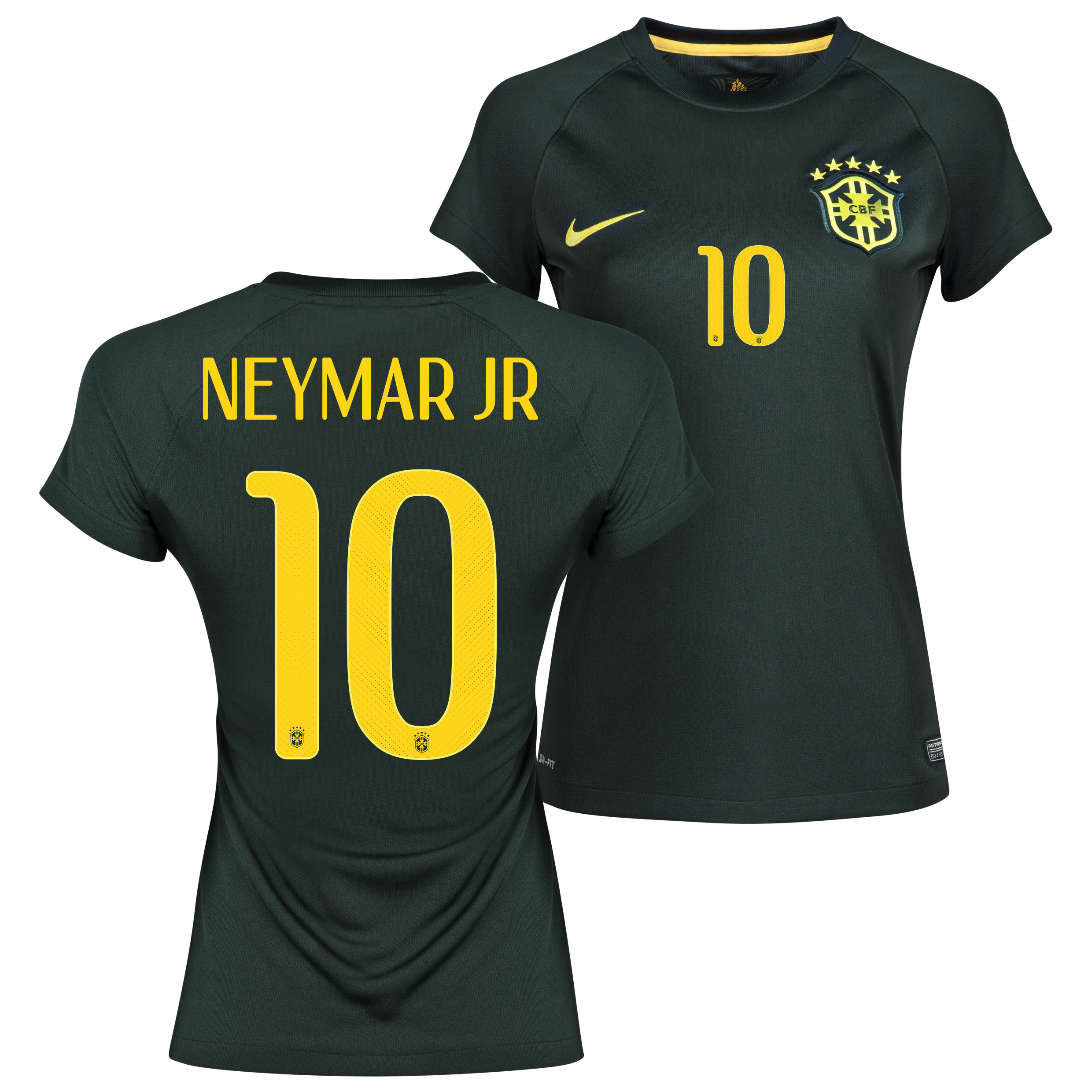 Brazil Third Shirt 2013/15 - Womens Black with Neymar Jr 10 printing