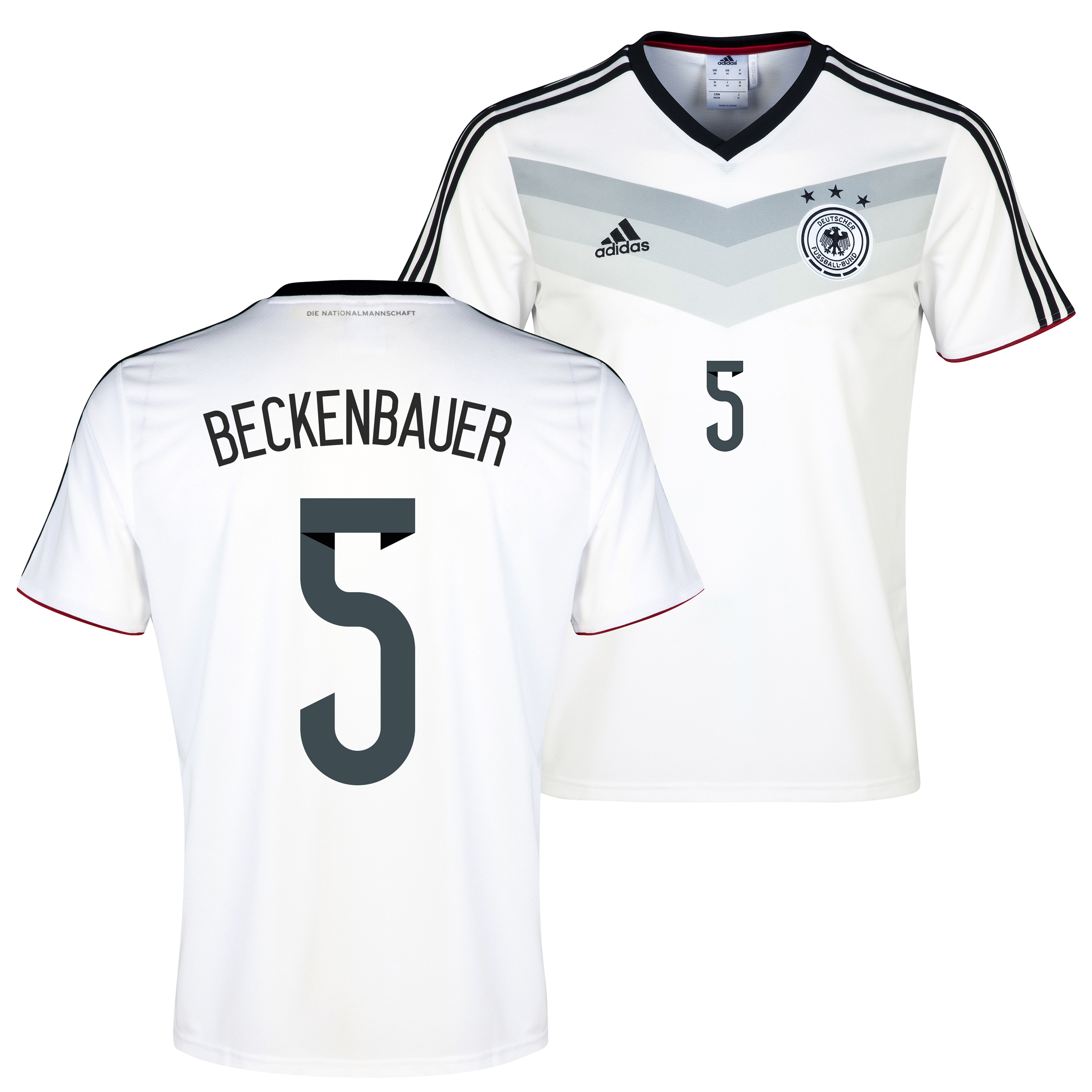 Germany Home Replica T-shirt with Beckenbauer 5 printing