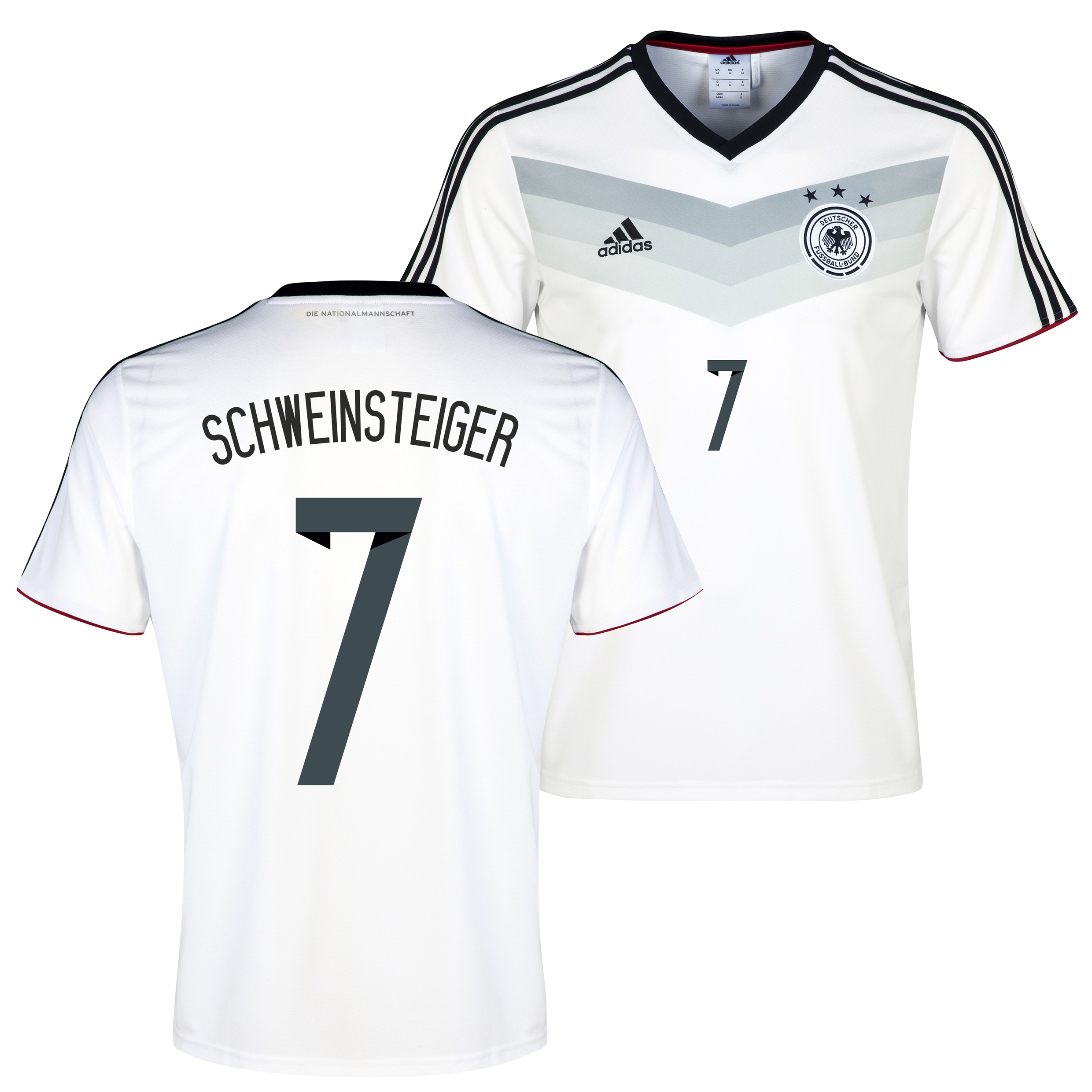 Germany Home Replica T-shirt with Schweinsteiger 7 printing