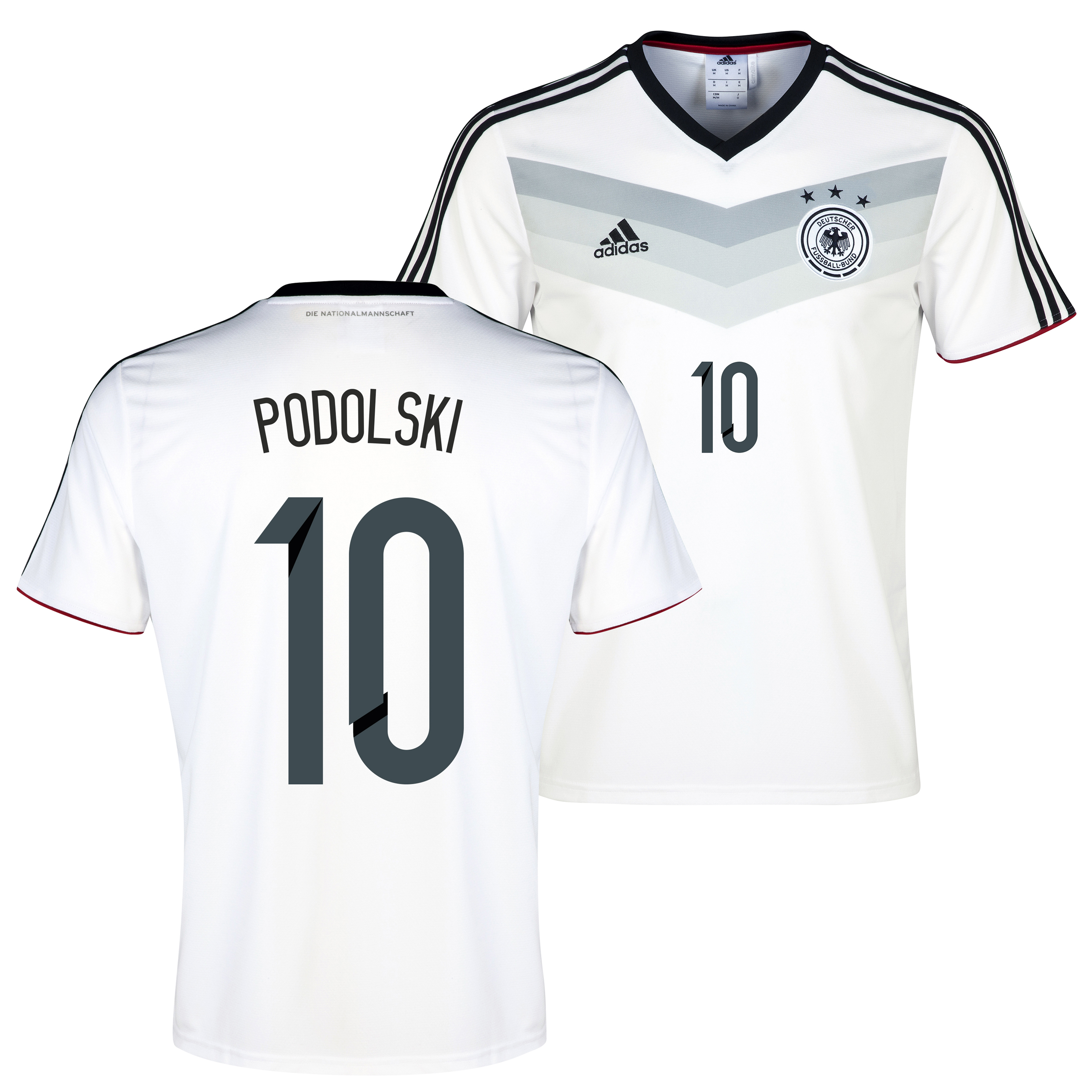 Germany Home Replica T-shirt with Podolski 10 printing