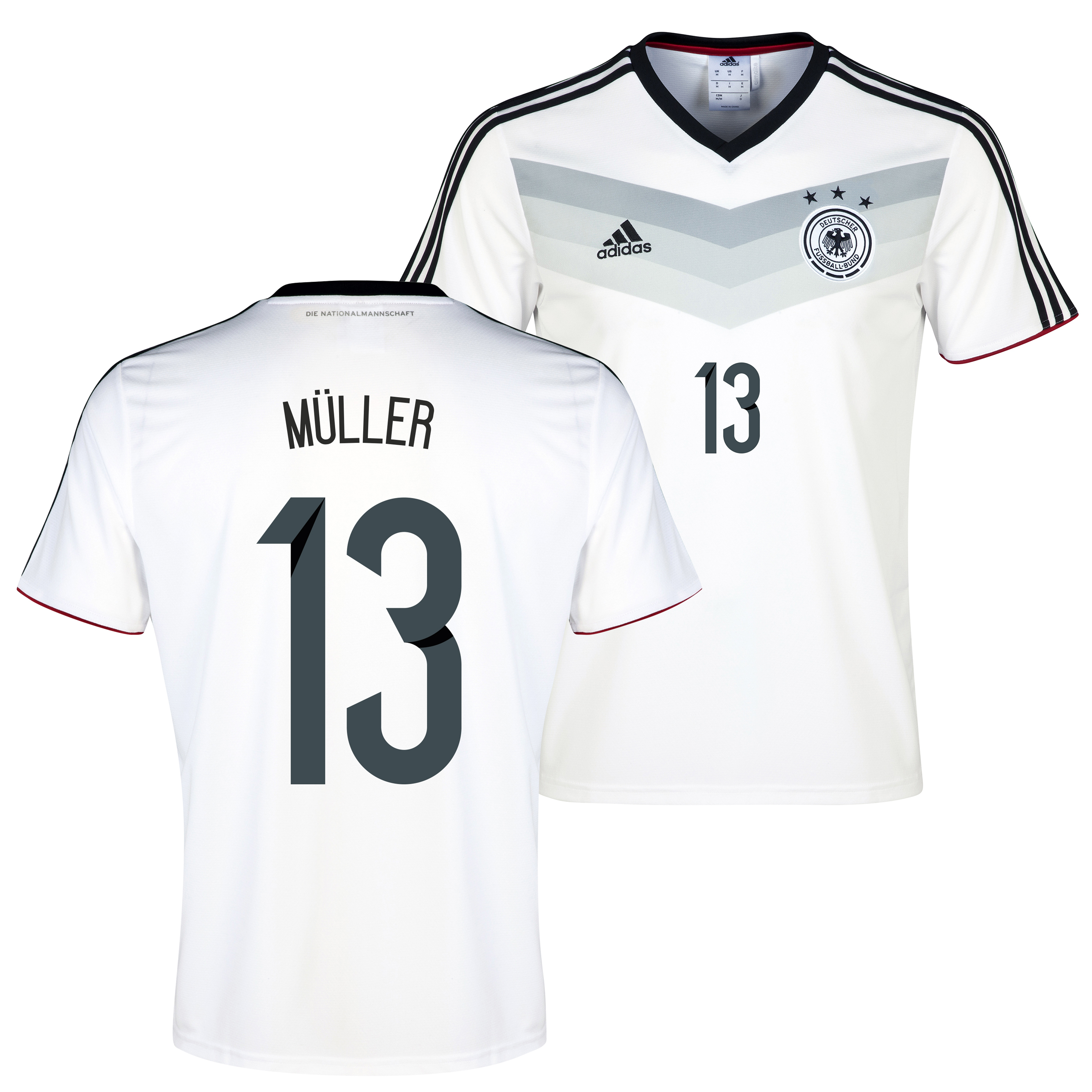 Germany Home Replica T-shirt with Muller 13 printing