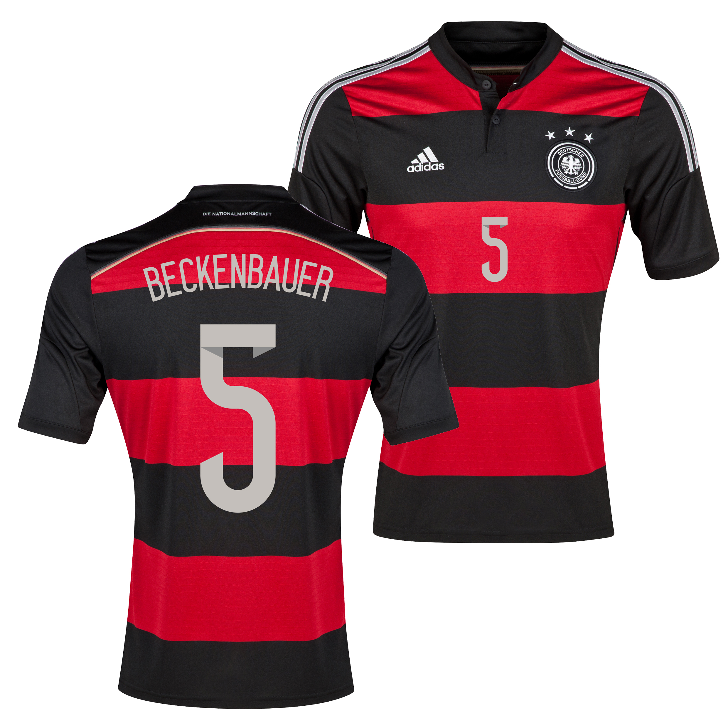 Germany Away Shirt 2013/15 with Beckenbauer 5 printing