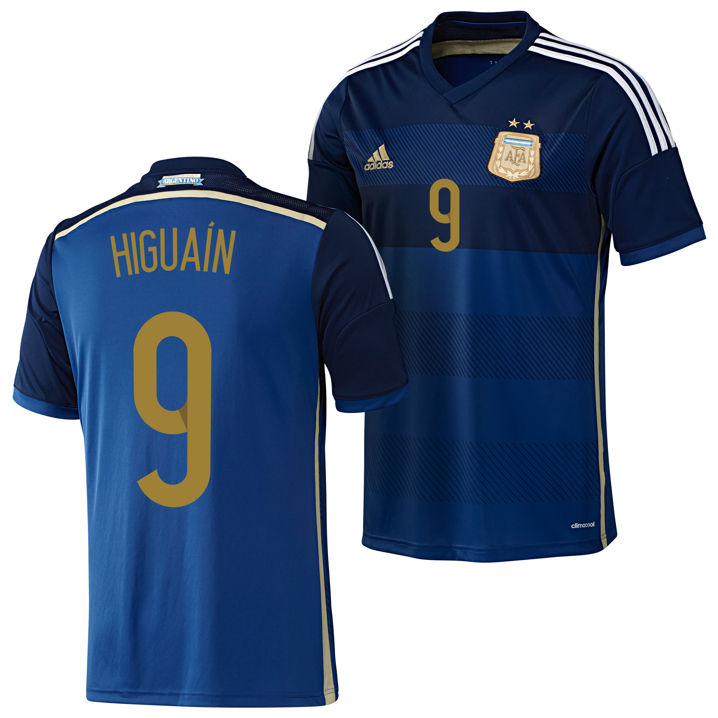 Argentina Away Shirt 2013/15 with Higuain 9 printing
