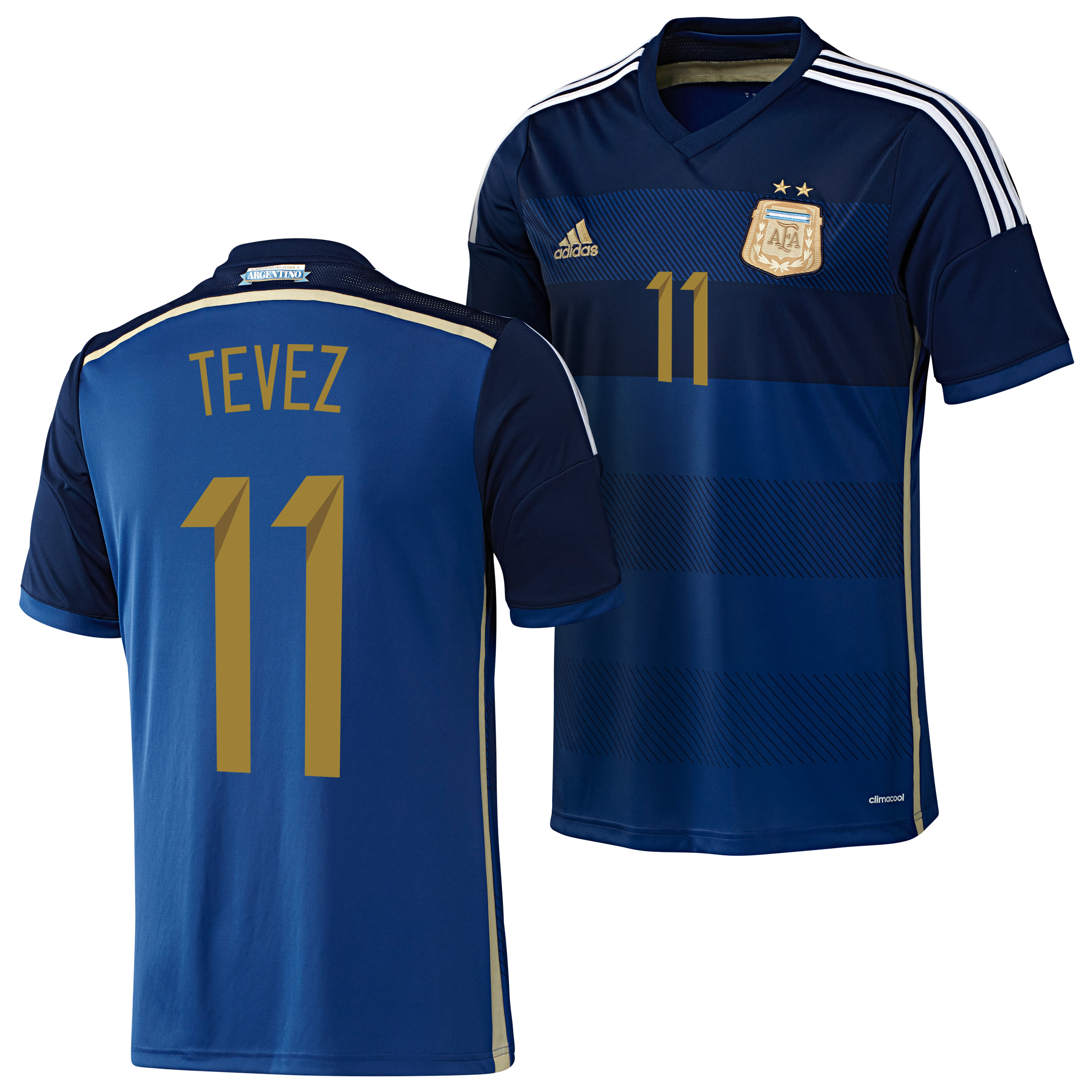 Argentina Away Shirt 2013/15 with Tevez 11 printing