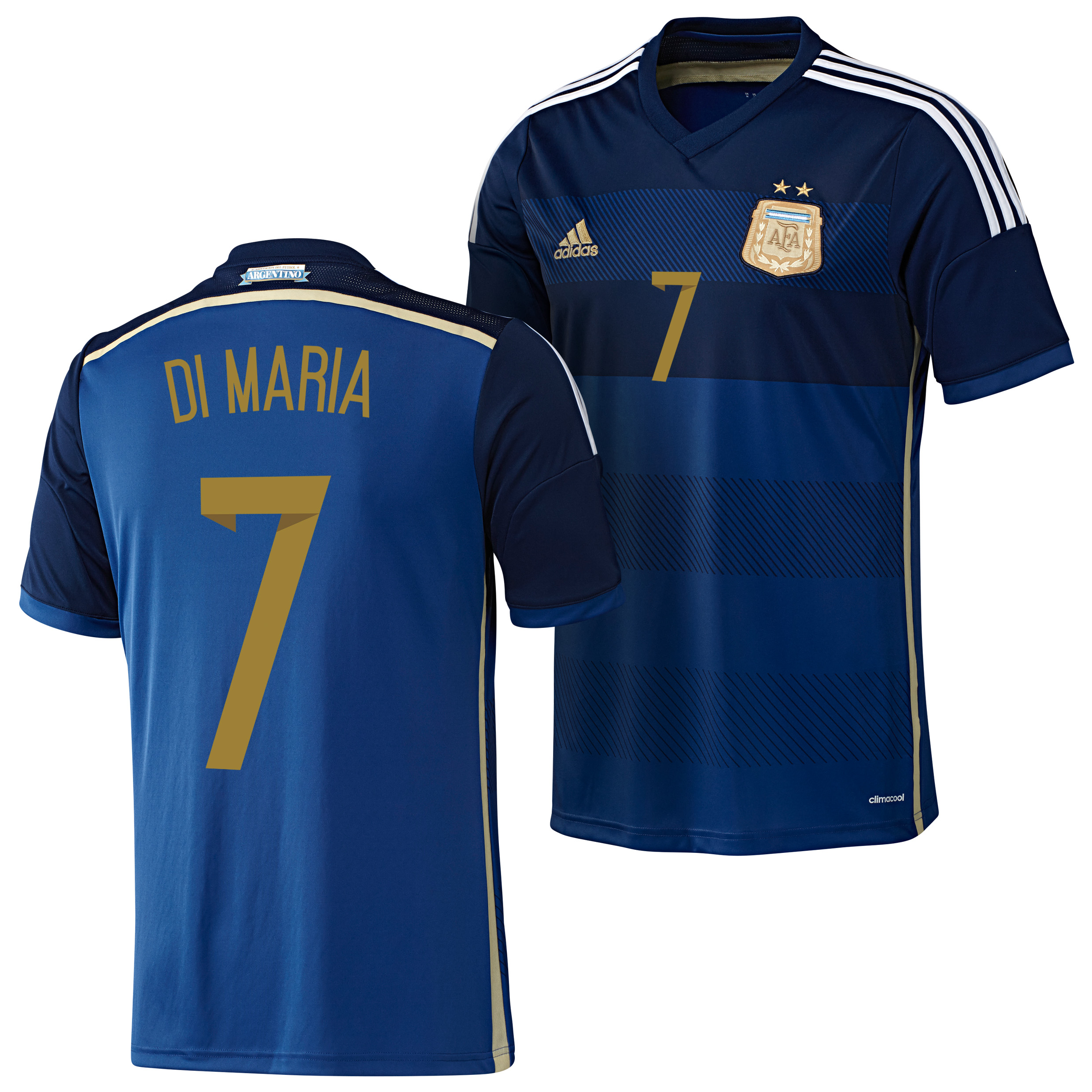 Argentina Away Shirt 2013/15 - Kids with Di Maria 7 printing