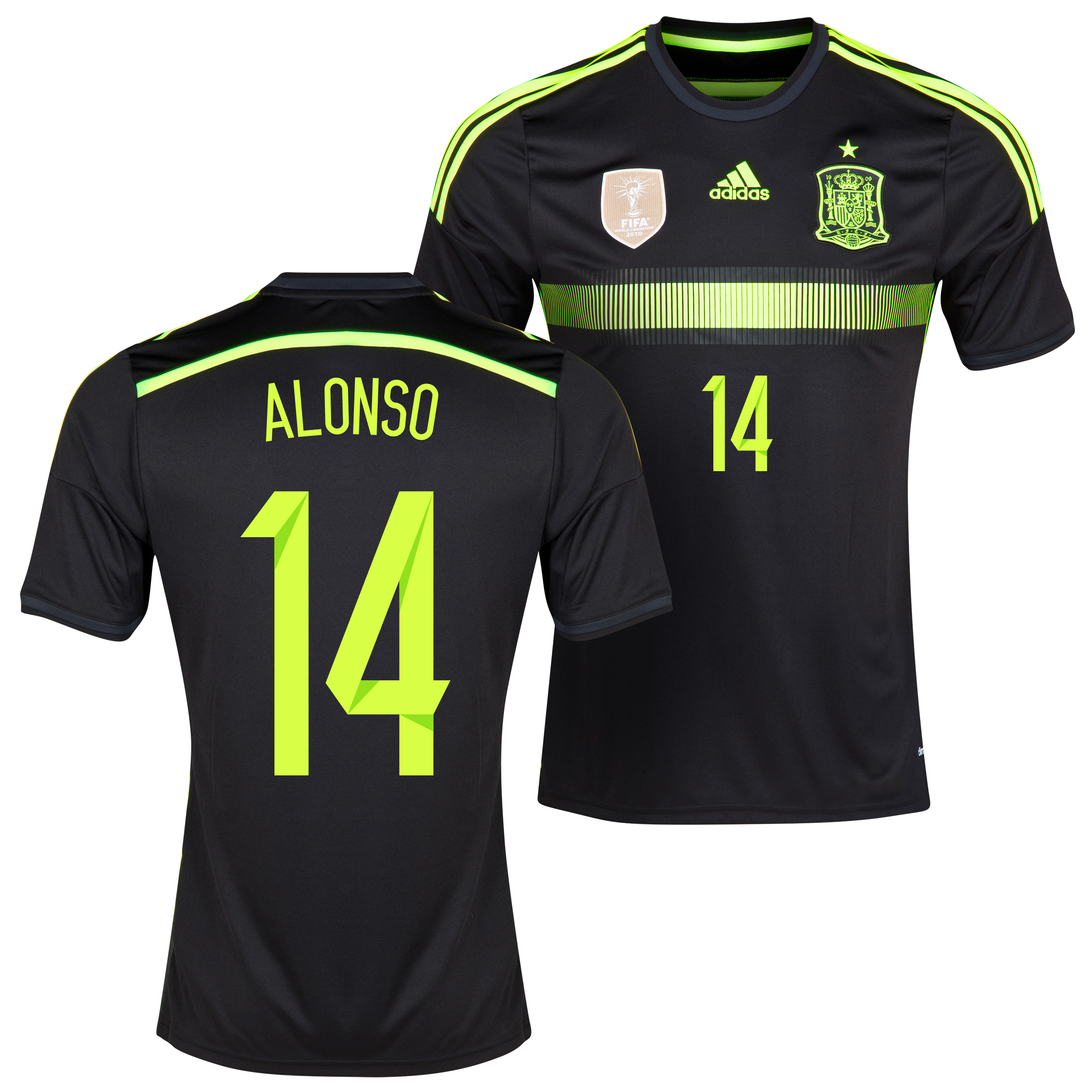 Spain Away Shirt 2013/15 with Alonso 14 printing
