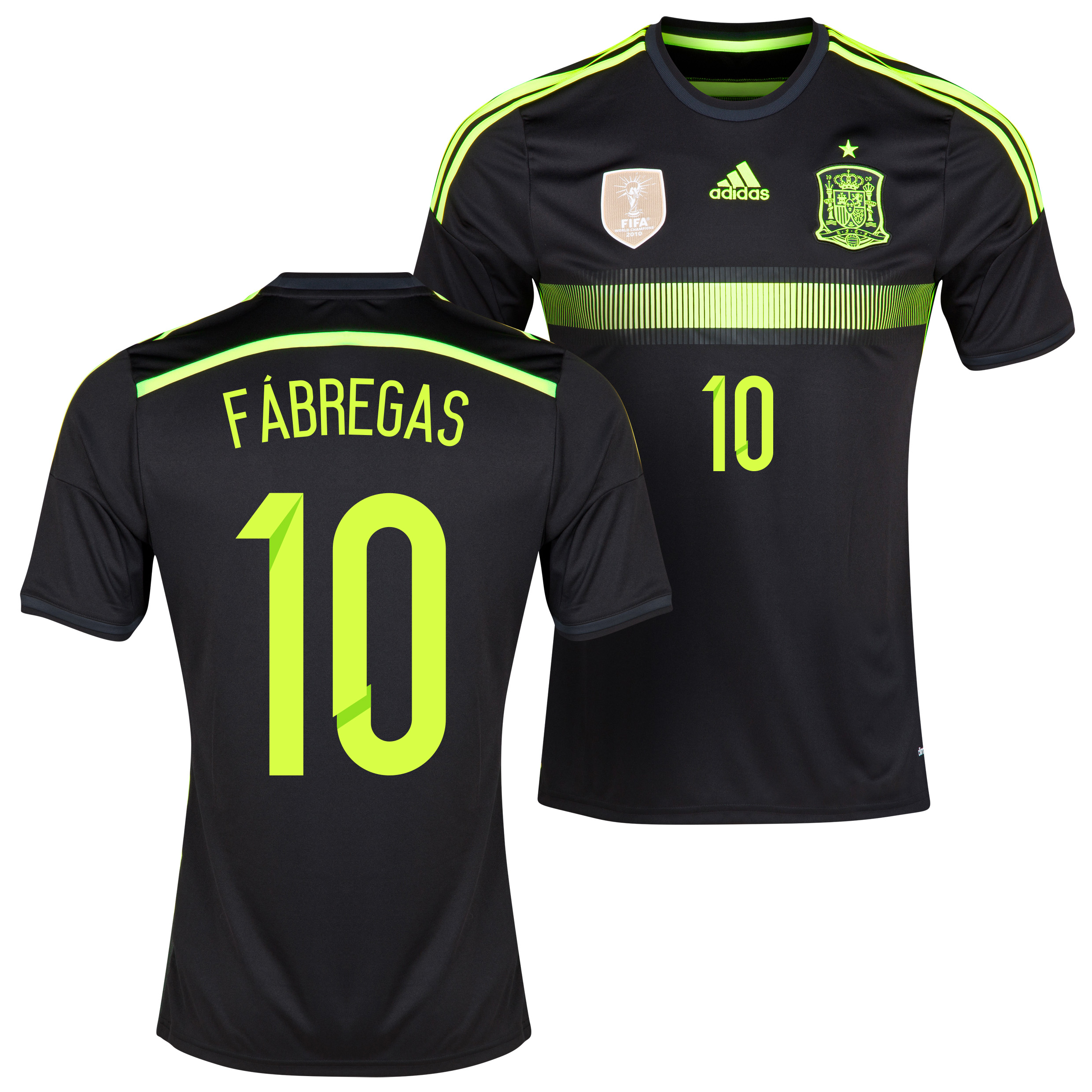 Spain Away Shirt 2013/15 - Kids with Fabregas 10 printing