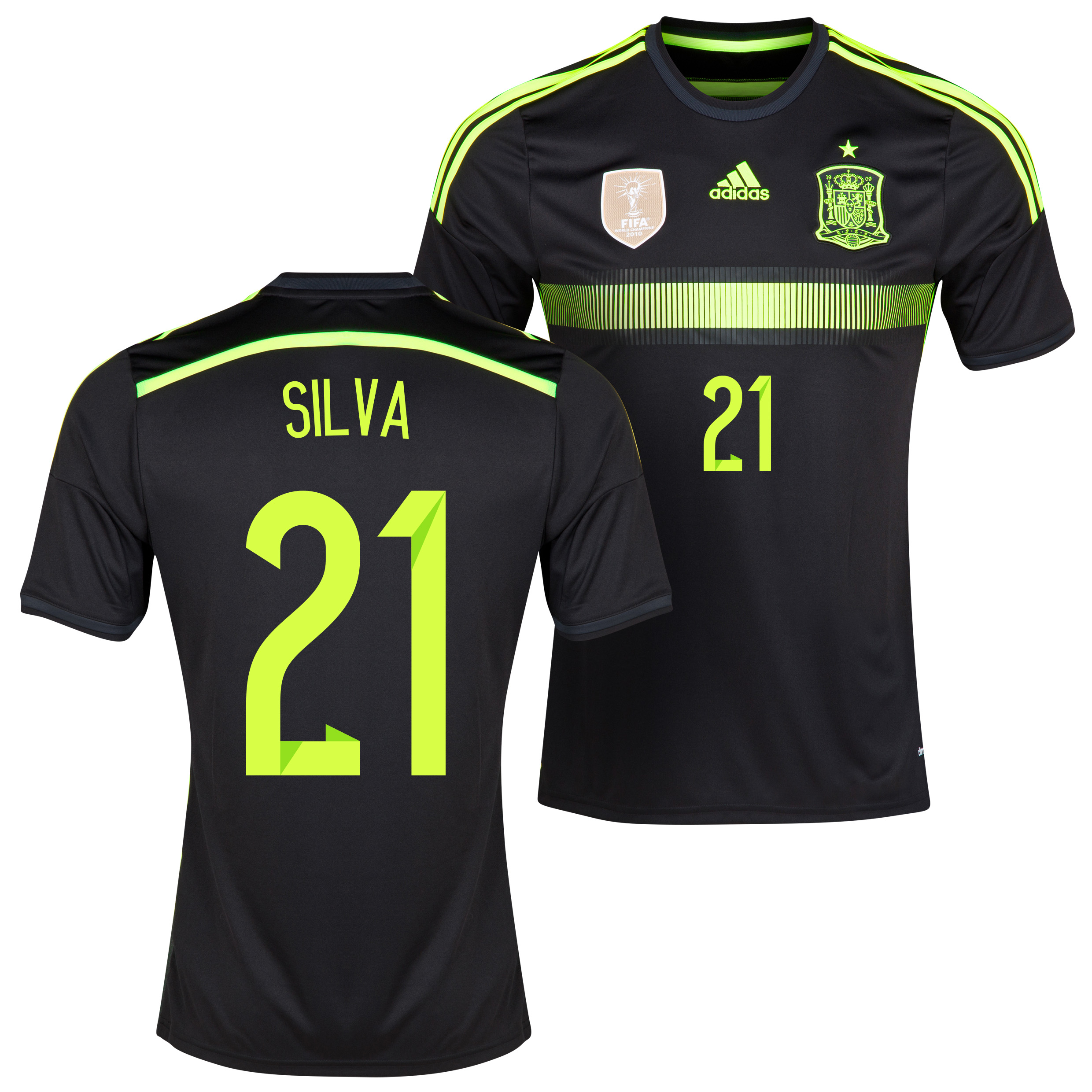Spain Away Shirt 2013/15 - Kids with David Silva 21 printing