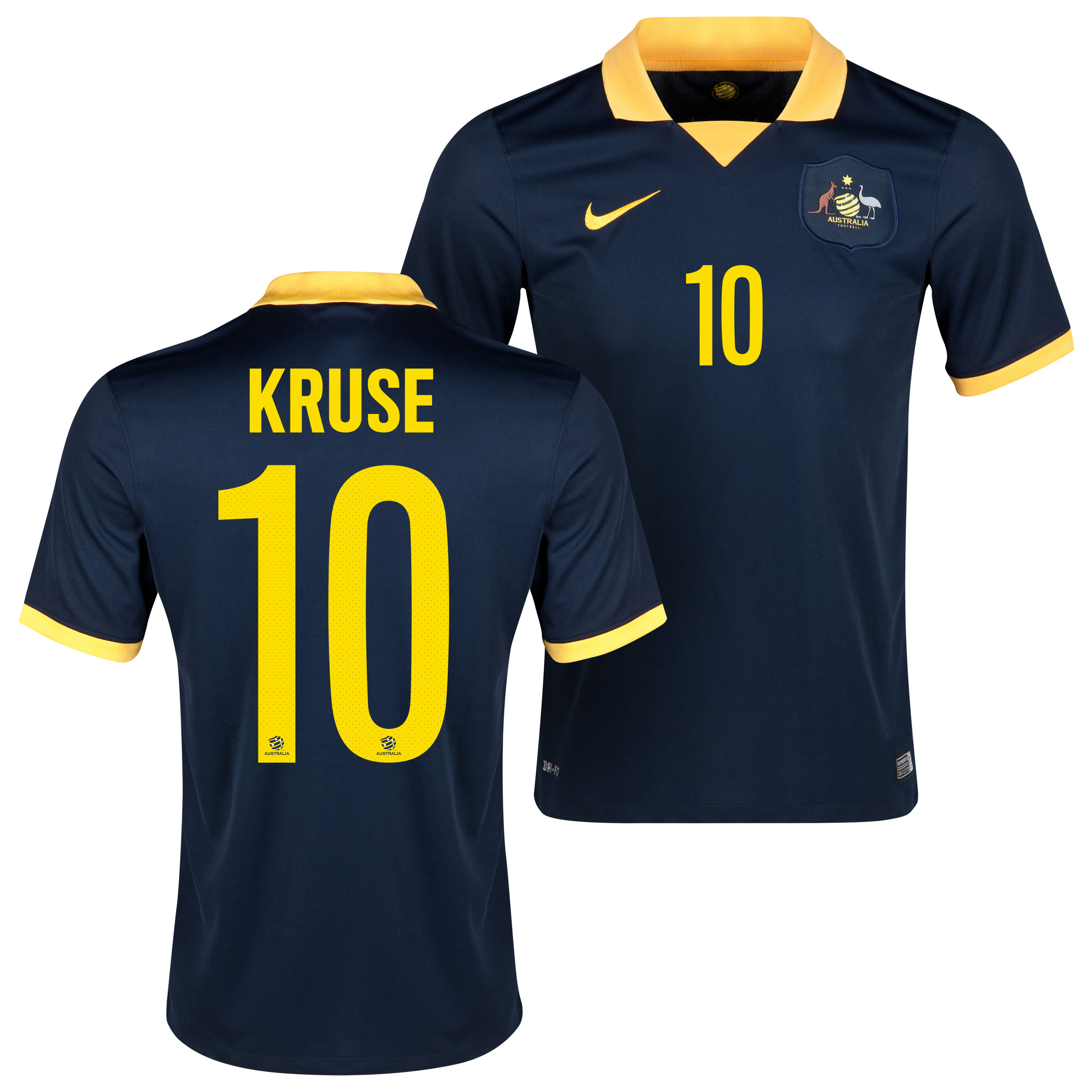 Australia Away Shirt 2013/15 Navy with Kruse 10 printing
