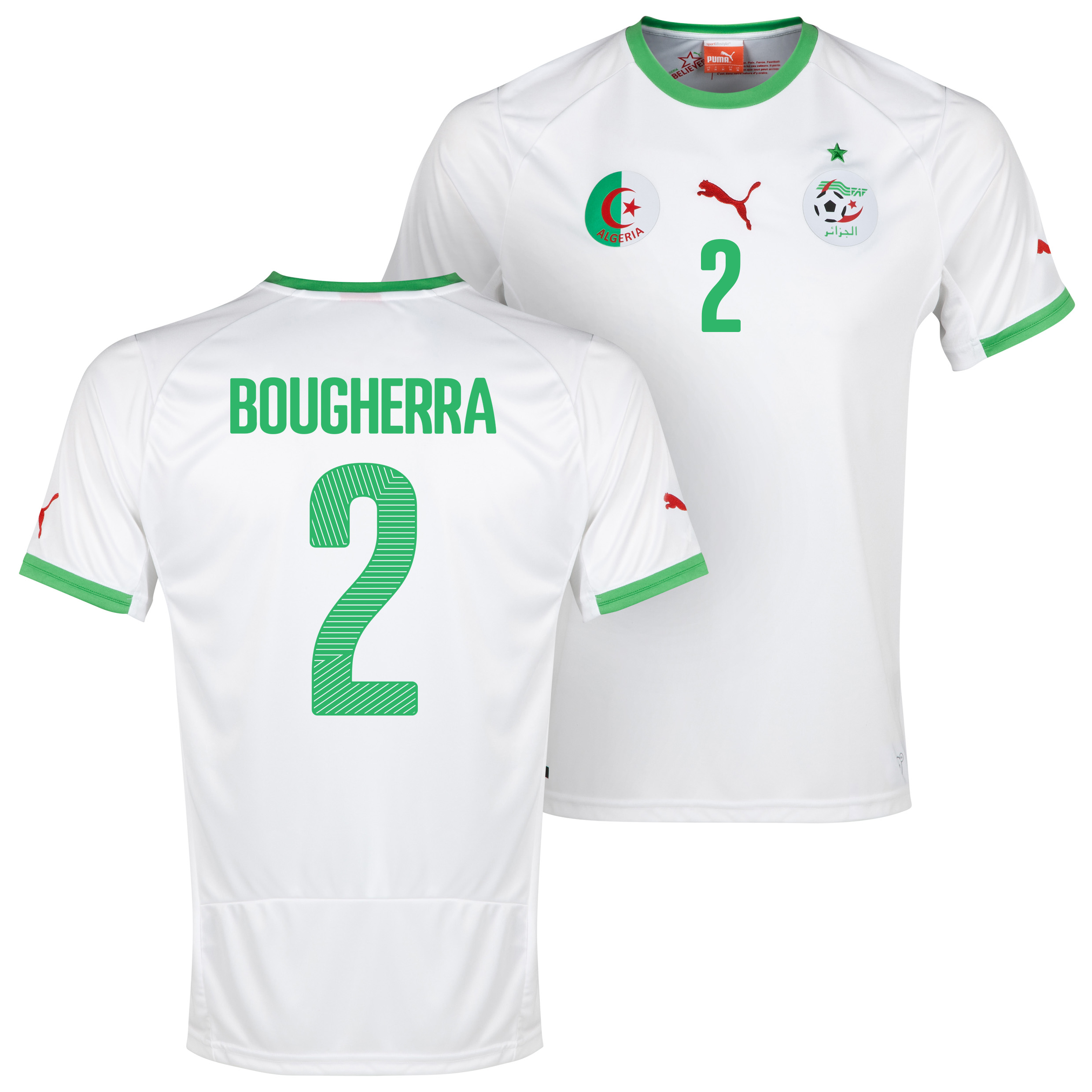 Algeria Home Shirt 2013/14 with Bougherra 2 printing