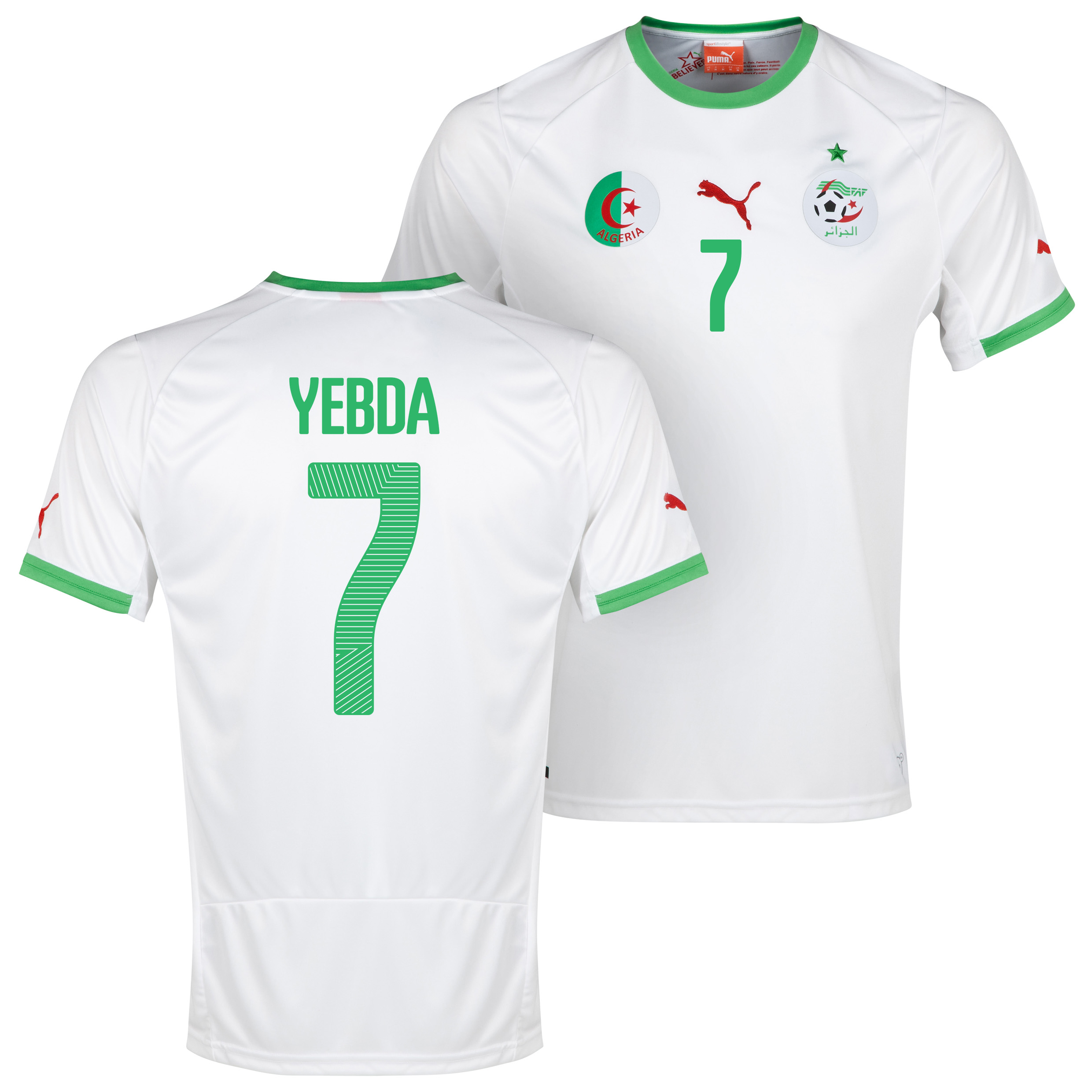 Algeria Home Shirt 2013/14 with Yebda 7 printing