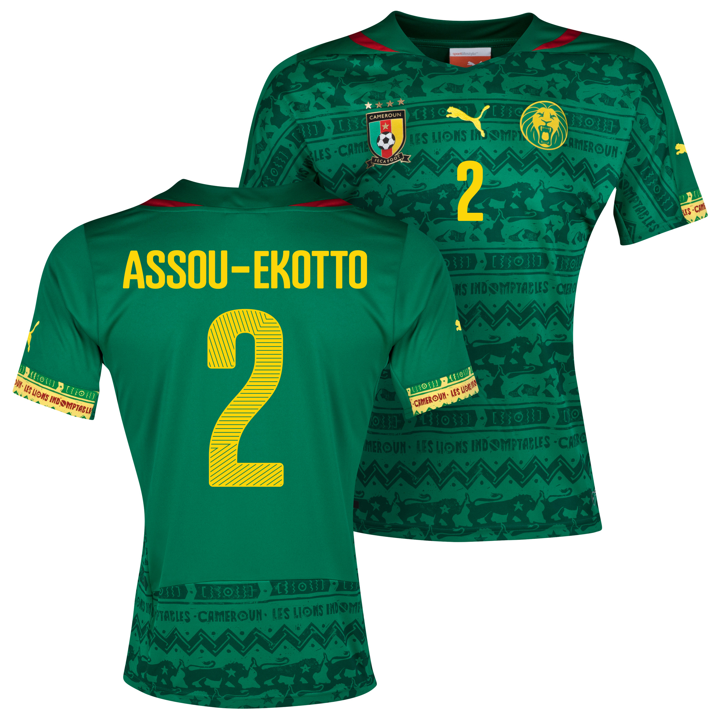 Cameroon Home Shirt 2013/14 with Assou-Ekotto 2 printing