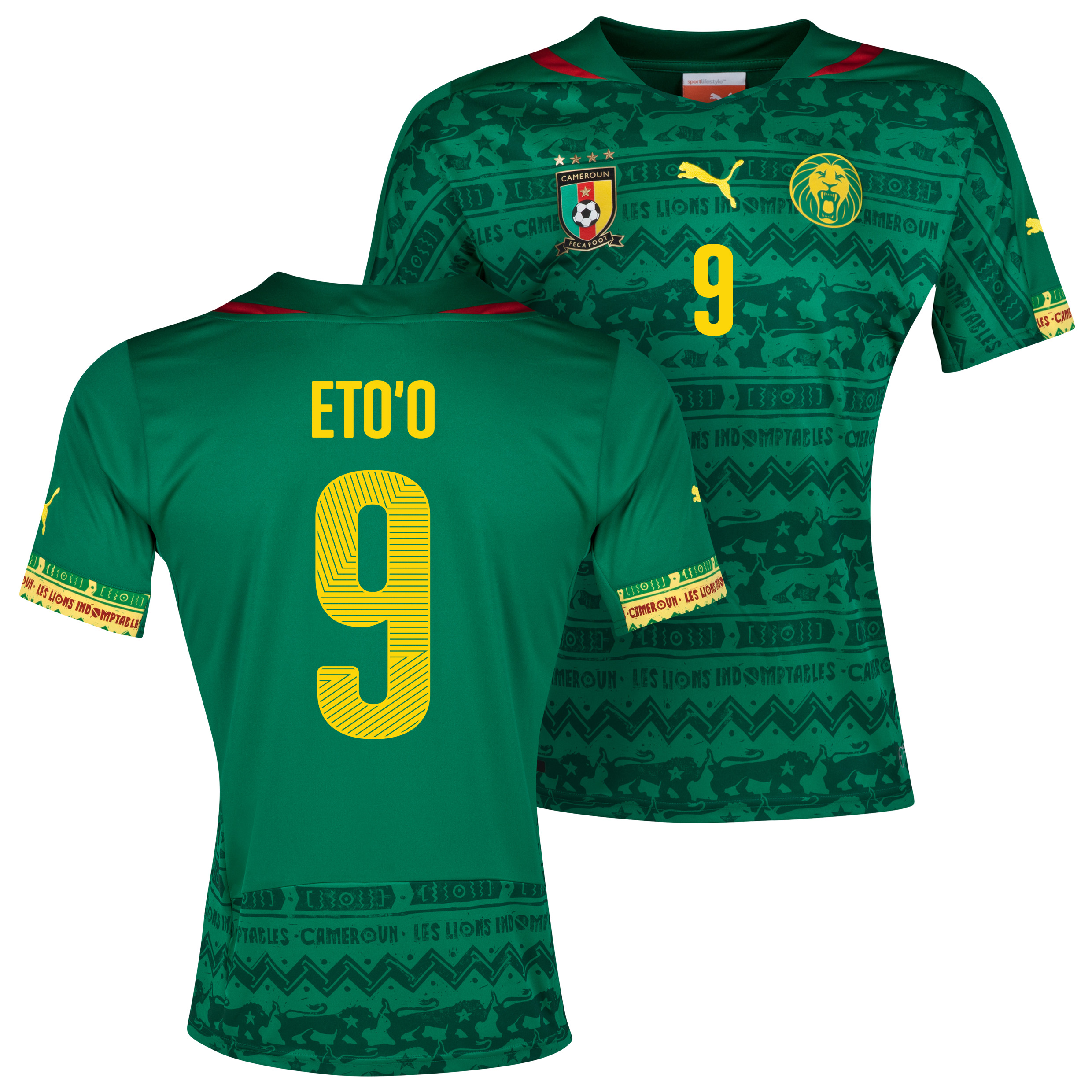 Cameroon Home Shirt 2013/14 with Eto'o 9 printing