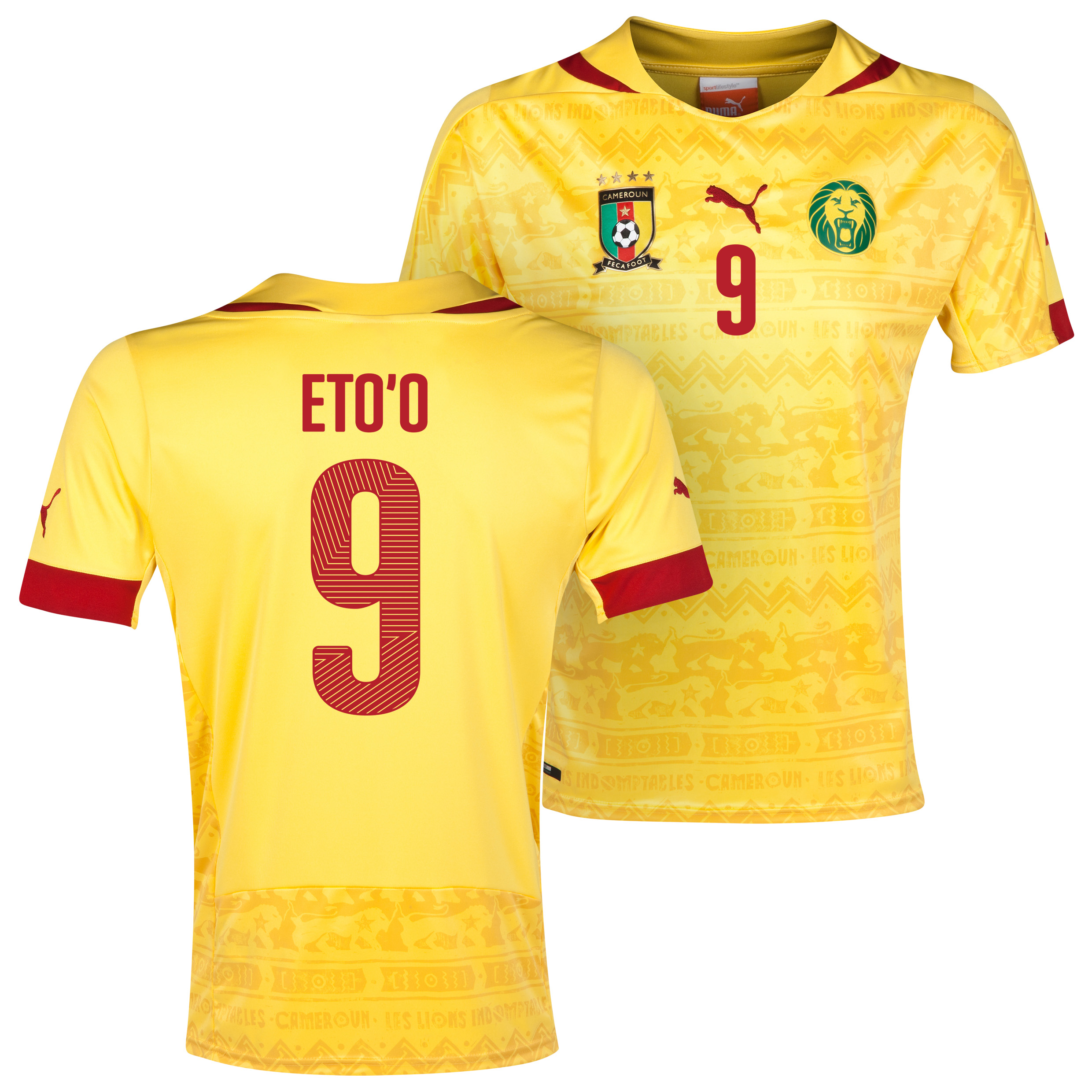 Cameroon Away Shirt 2013/14 with Eto'o 9 printing
