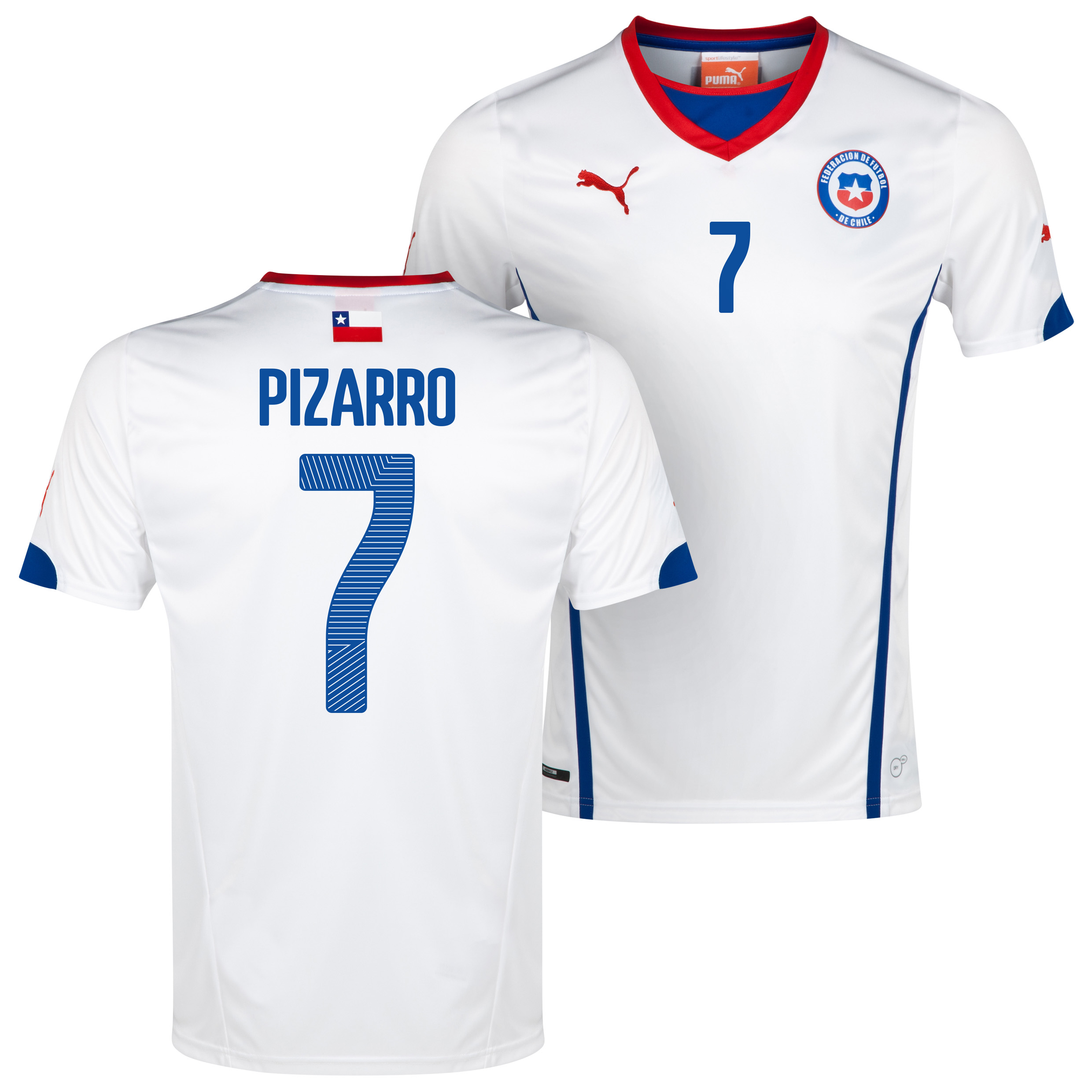 Chile Away Shirt 2013/14 with Pizarro 7 printing