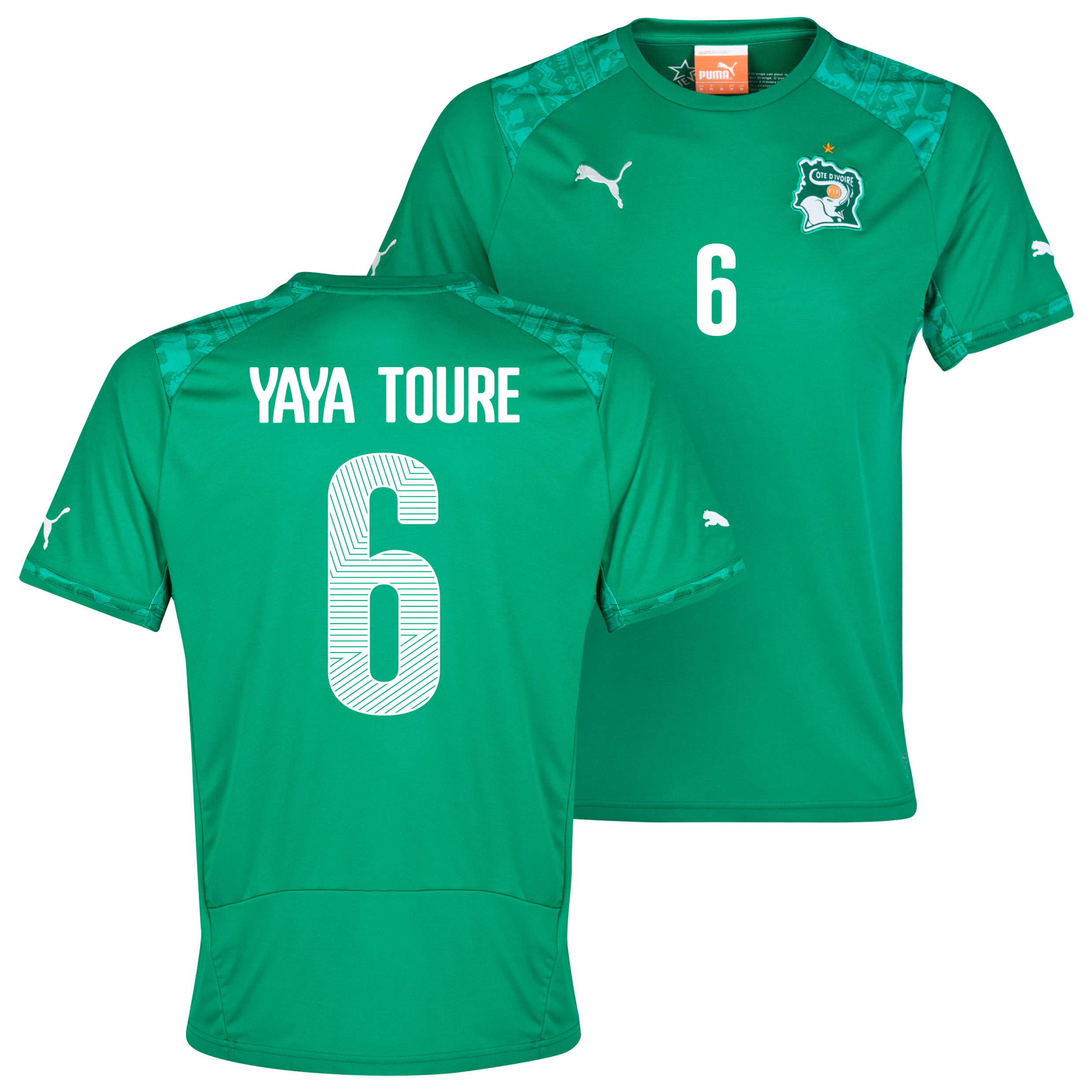 Ivory Coast Away Shirt 2013/14 with Yaya Toure 6 printing
