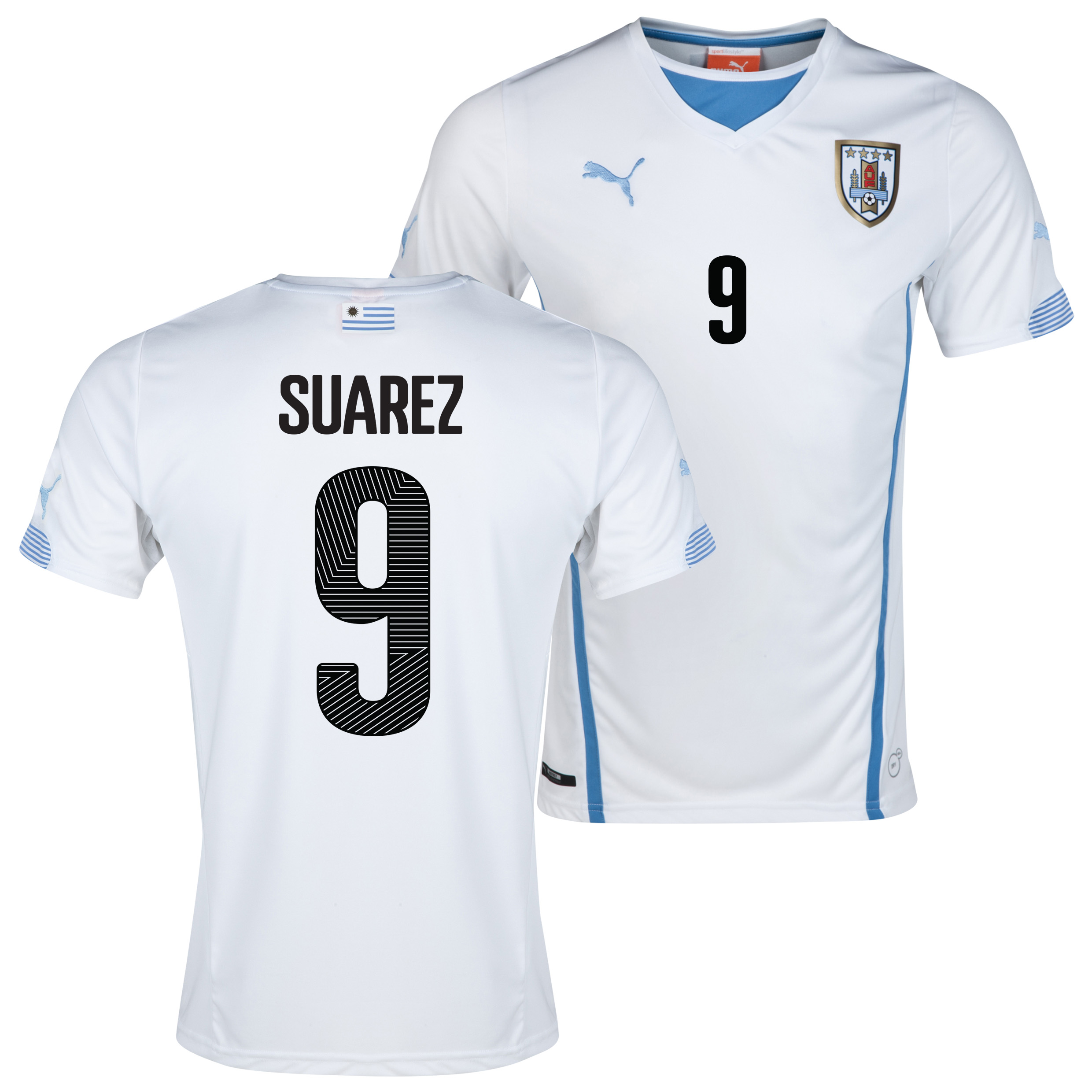 Uruguay Away Shirt 2013/14 with Suarez 9 printing
