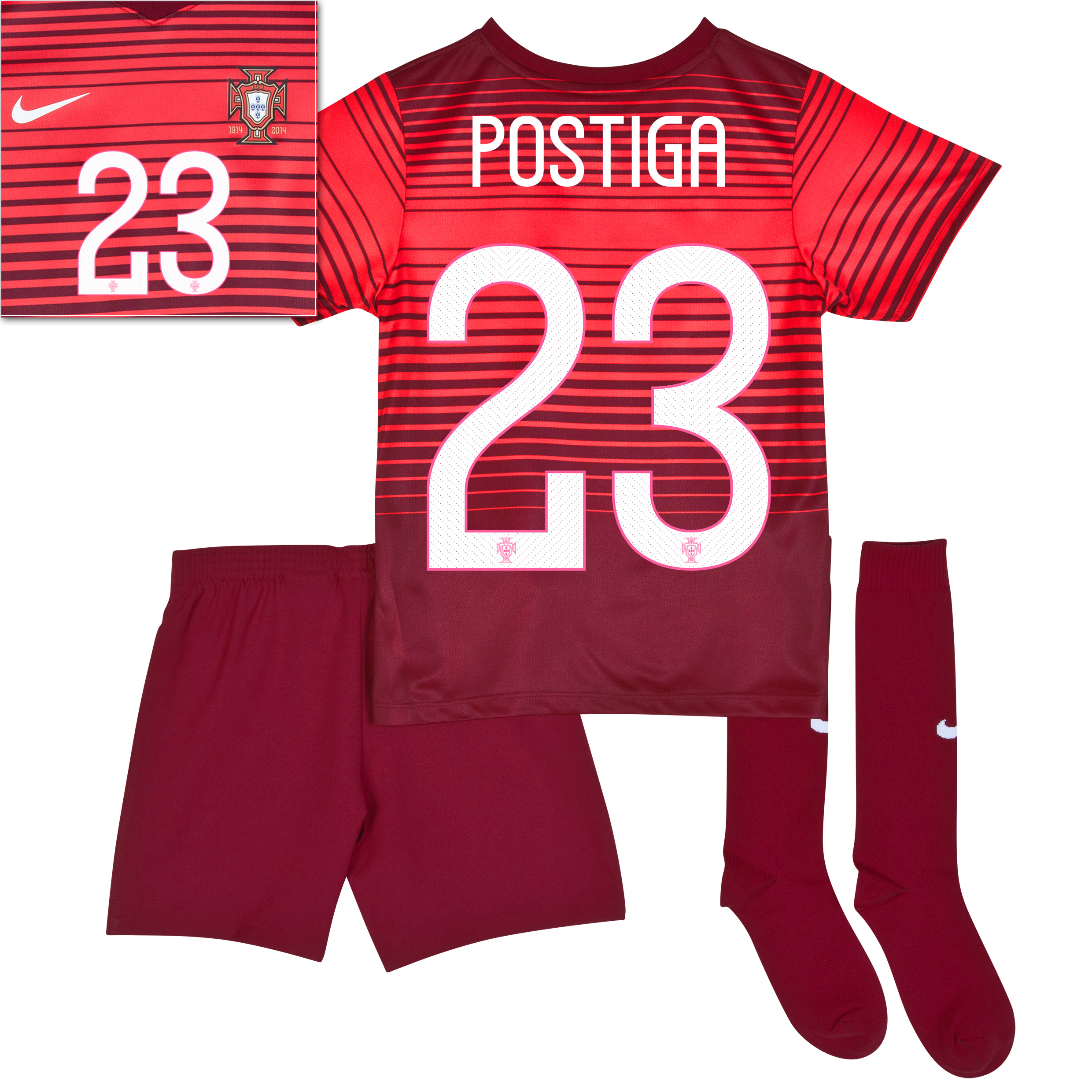 Portugal Home Kit 2013/15 - Little Boys Red with Postiga 23 printing