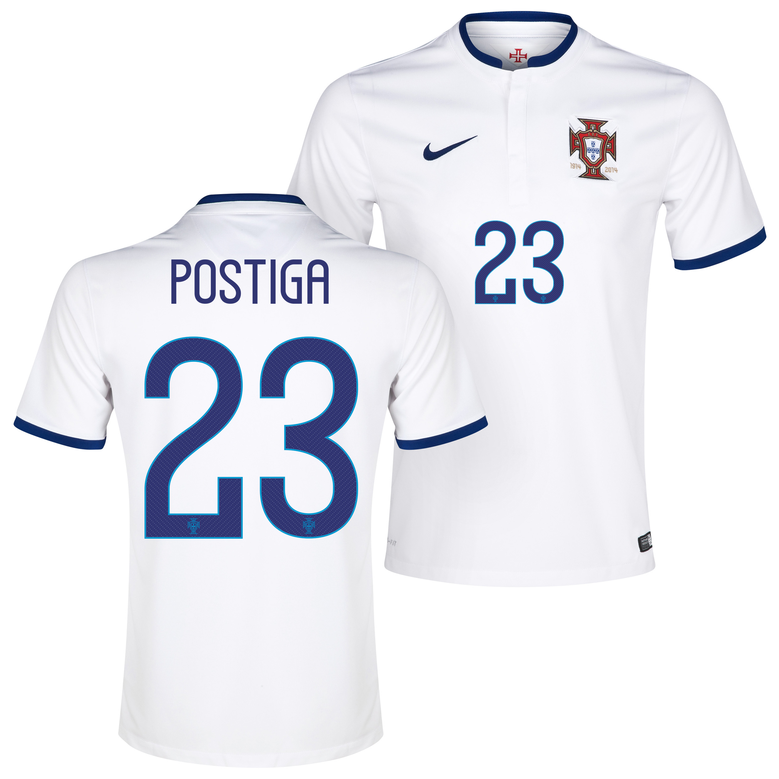 Portugal Away Shirt 2014/15 White with Postiga 23 printing