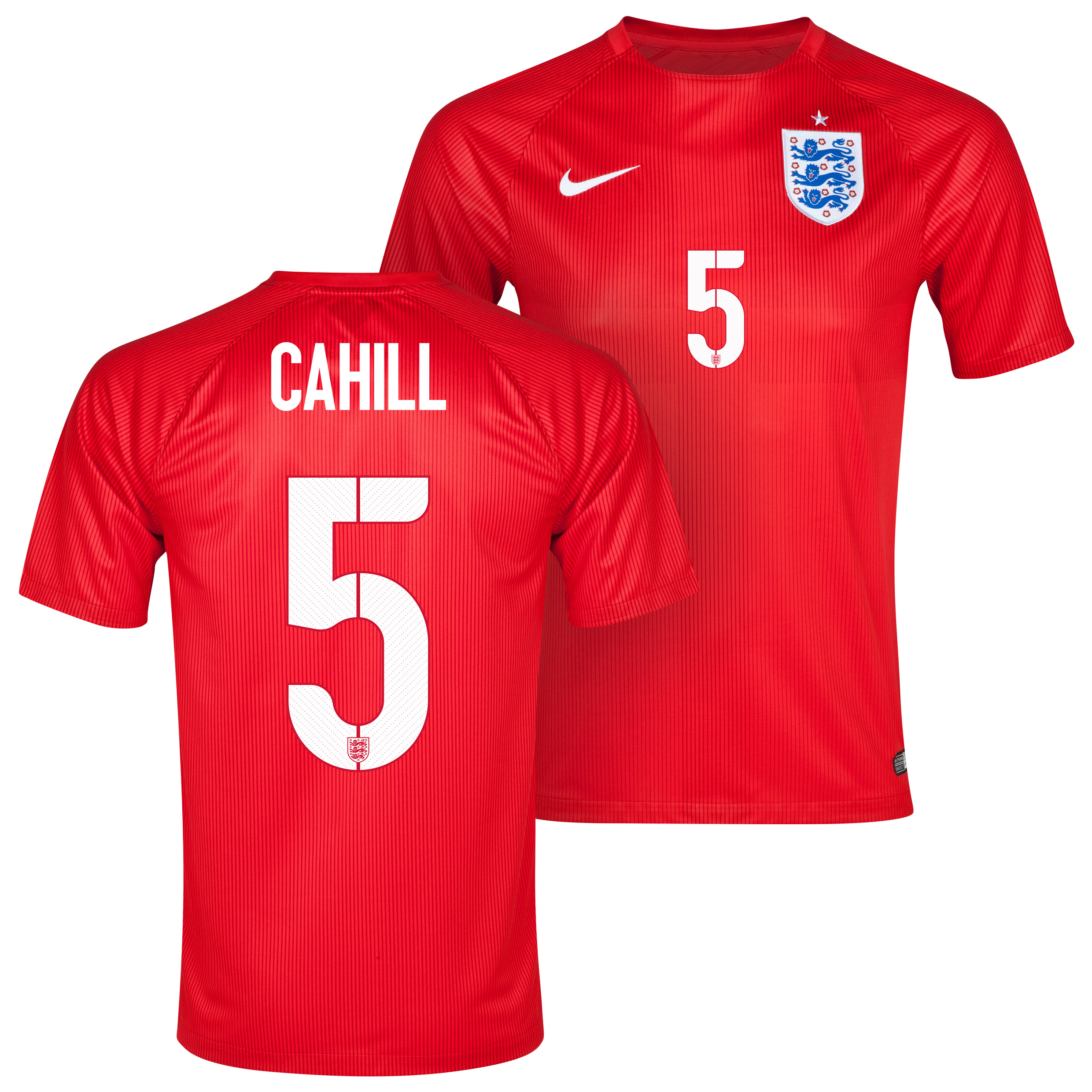 England Away Shirt 2014 - Kids Red with Cahill 5 printing
