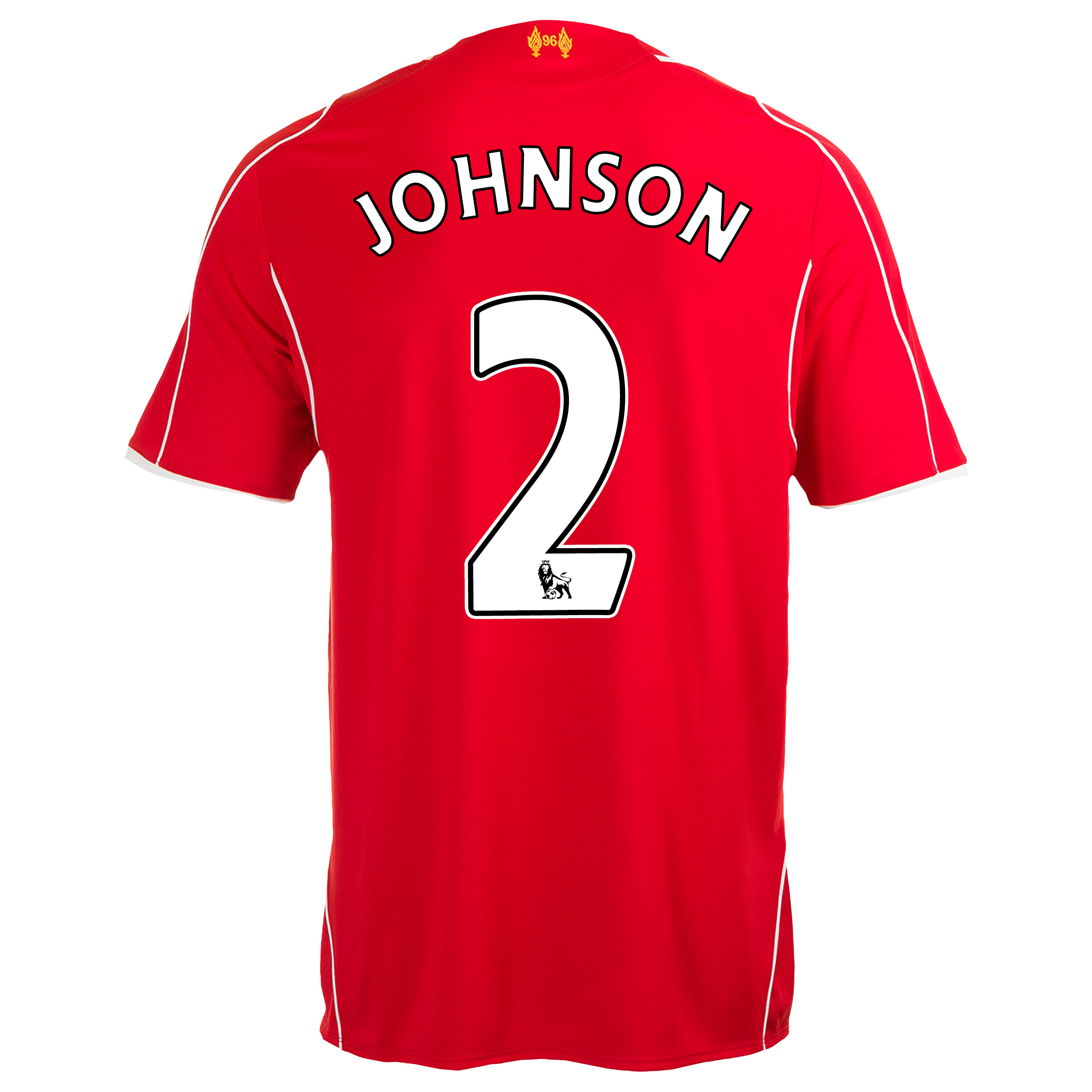 Liverpool Home Shirt 2014/15 Red with Johnson 2 printing
