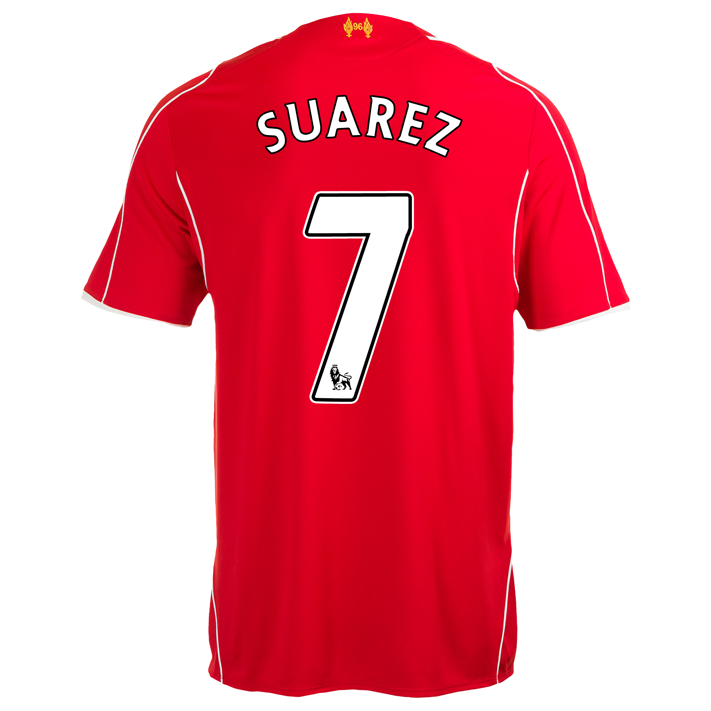 Liverpool Home Shirt 2014/15 Red with Suarez 7 printing