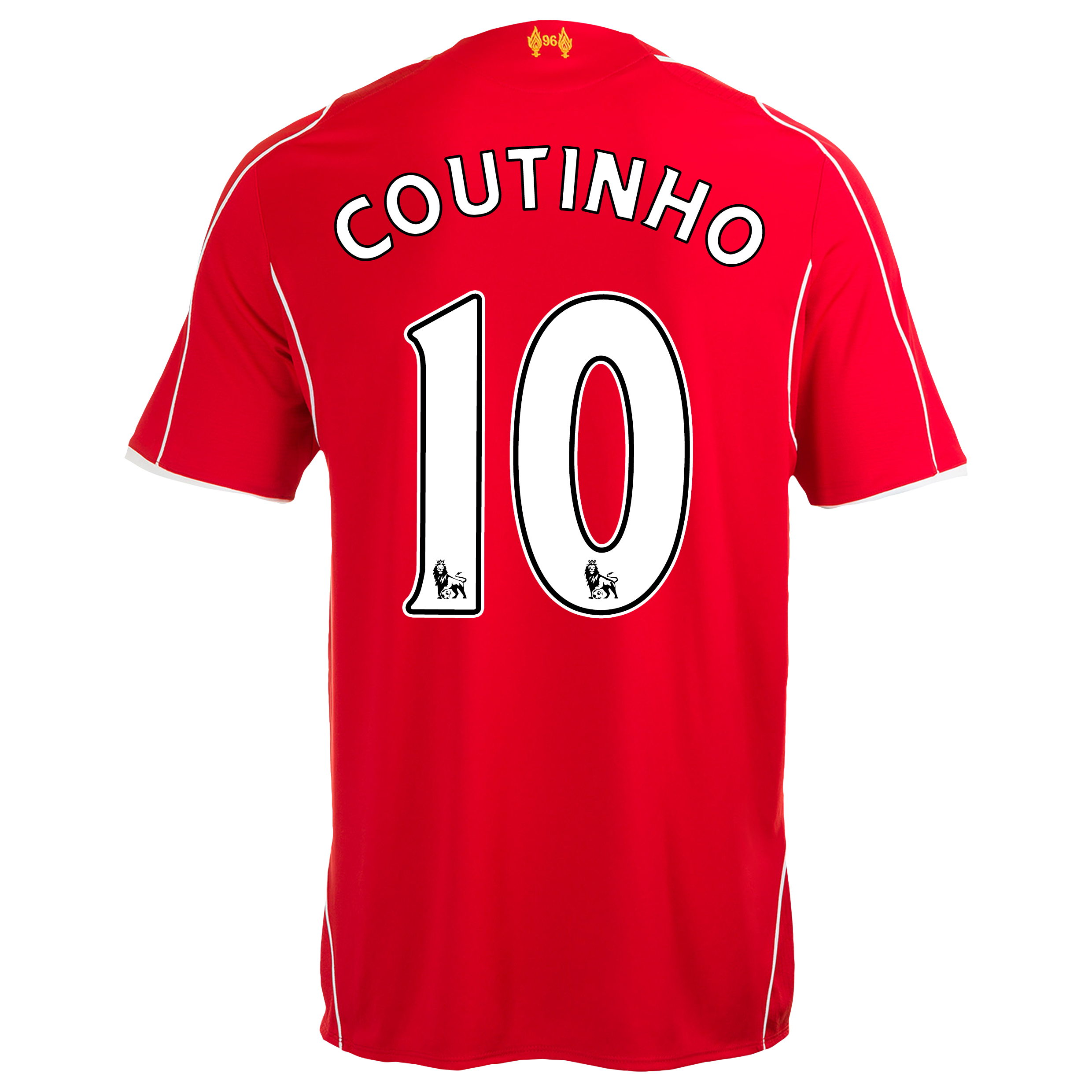 Liverpool Home Shirt 2014/15 Red with Coutinho 10 printing