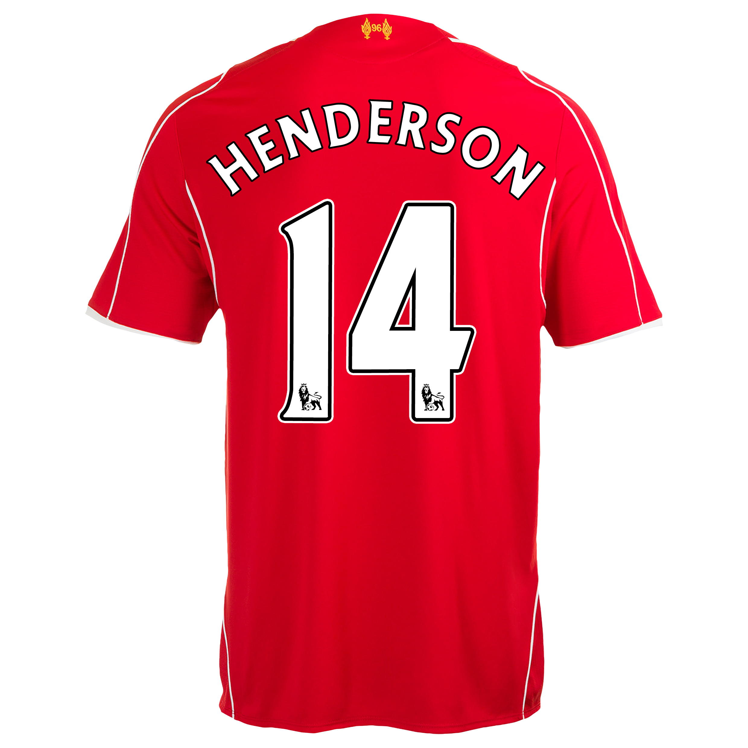 Liverpool Home Shirt 2014/15 Red with Henderson 14 printing