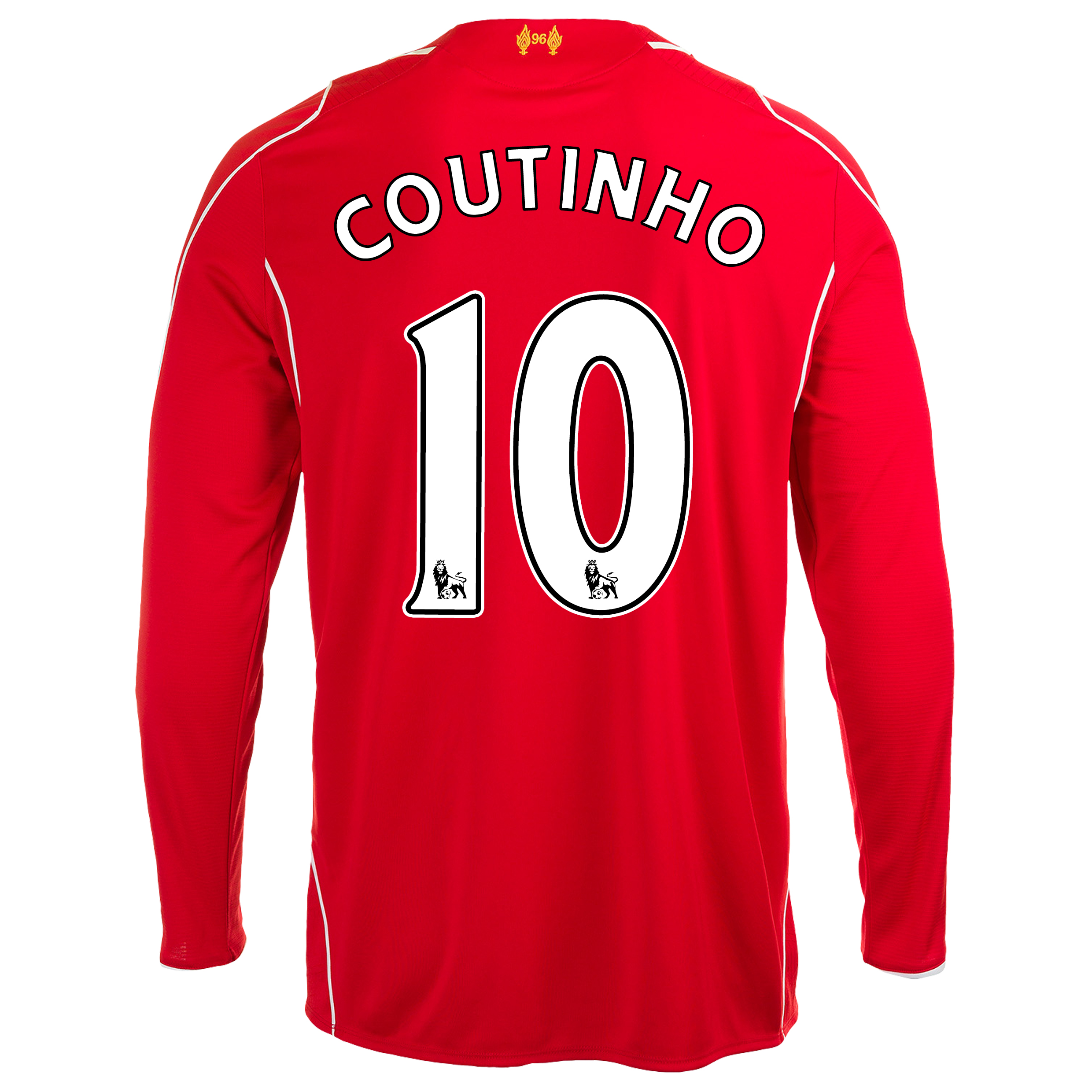 Liverpool Home Shirt 2014/15 Long Sleeve Red with Coutinho 10 printing