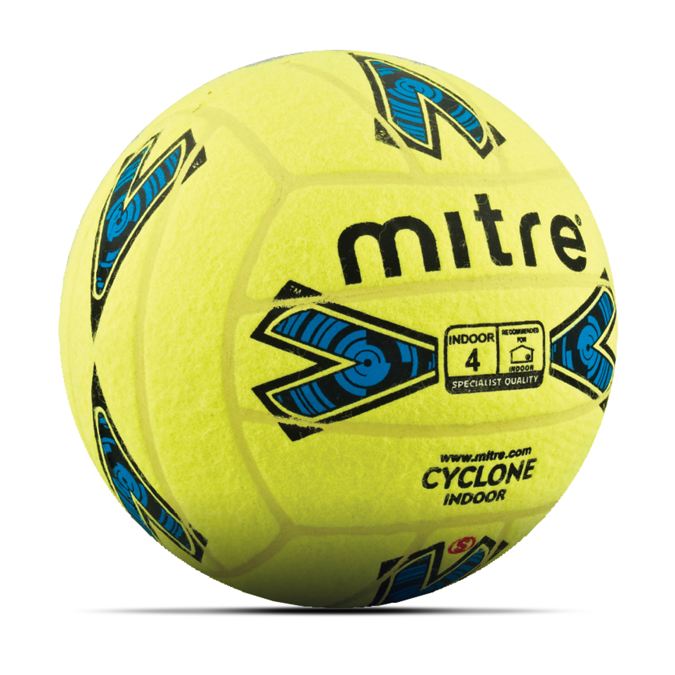 Mitre Cyclone Indoor Football - Yellow - Size 4