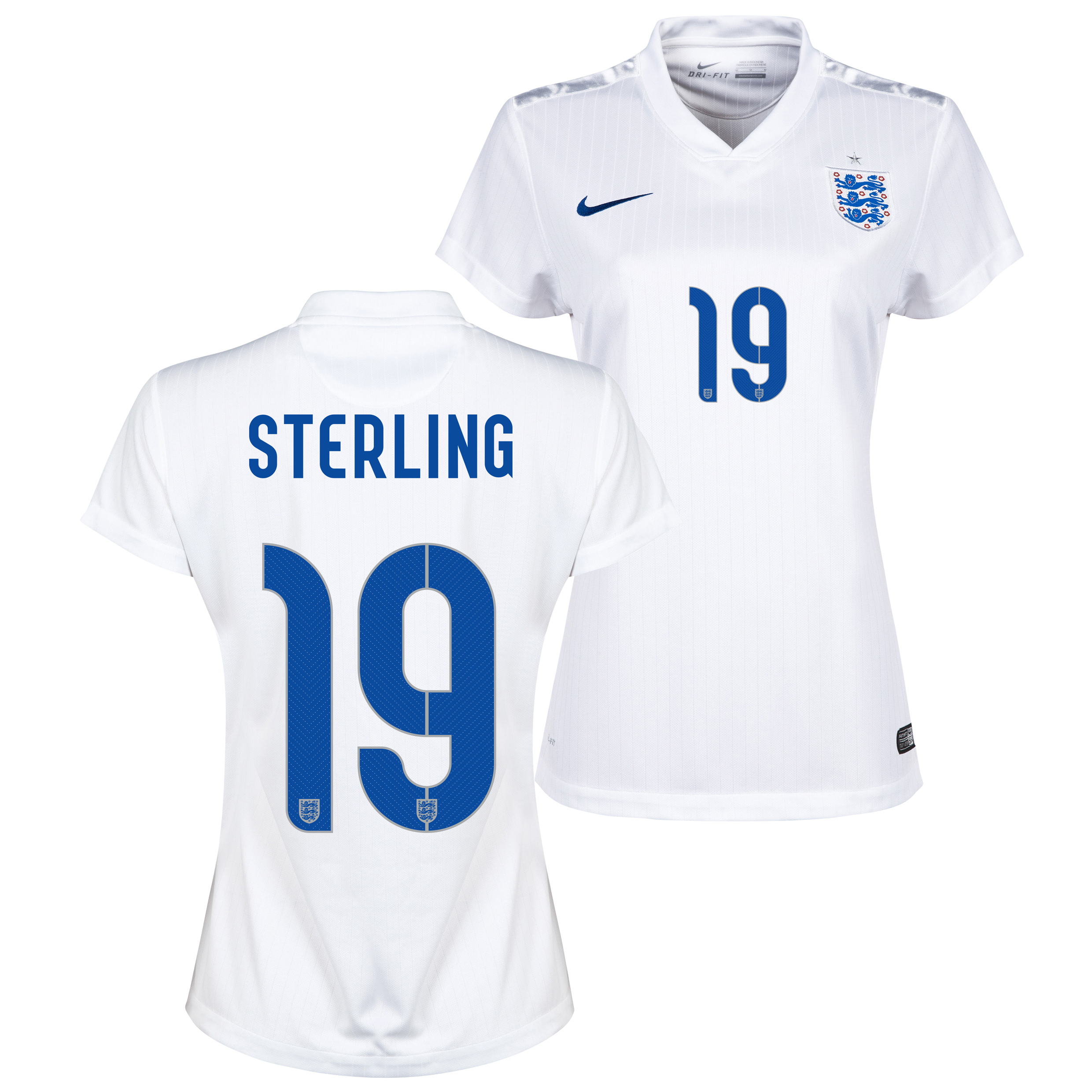England Home Shirt 2014/15 - Womens White with Sterling 19 printing