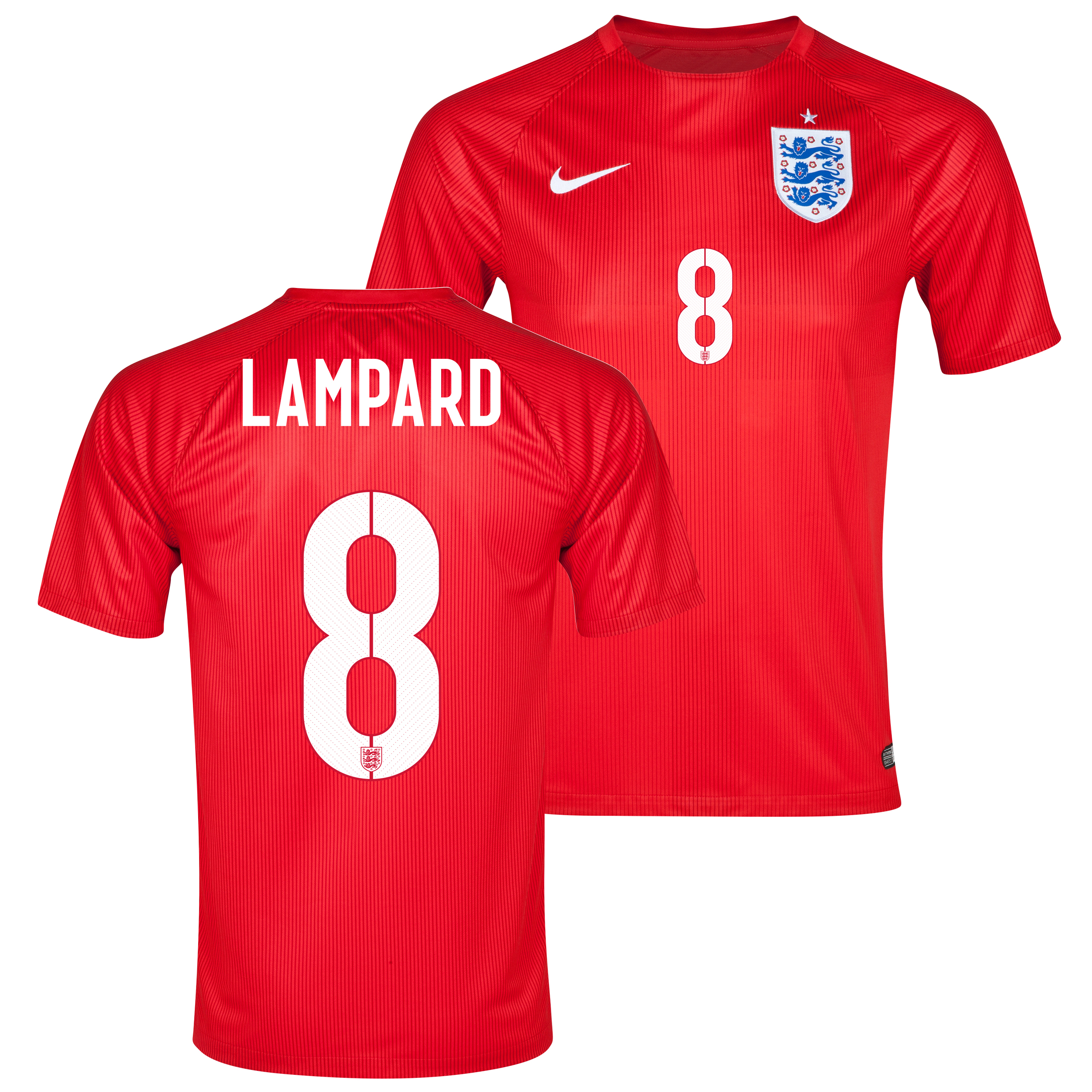 England Away Shirt 2014 - Kids Red with Lampard 8 printing
