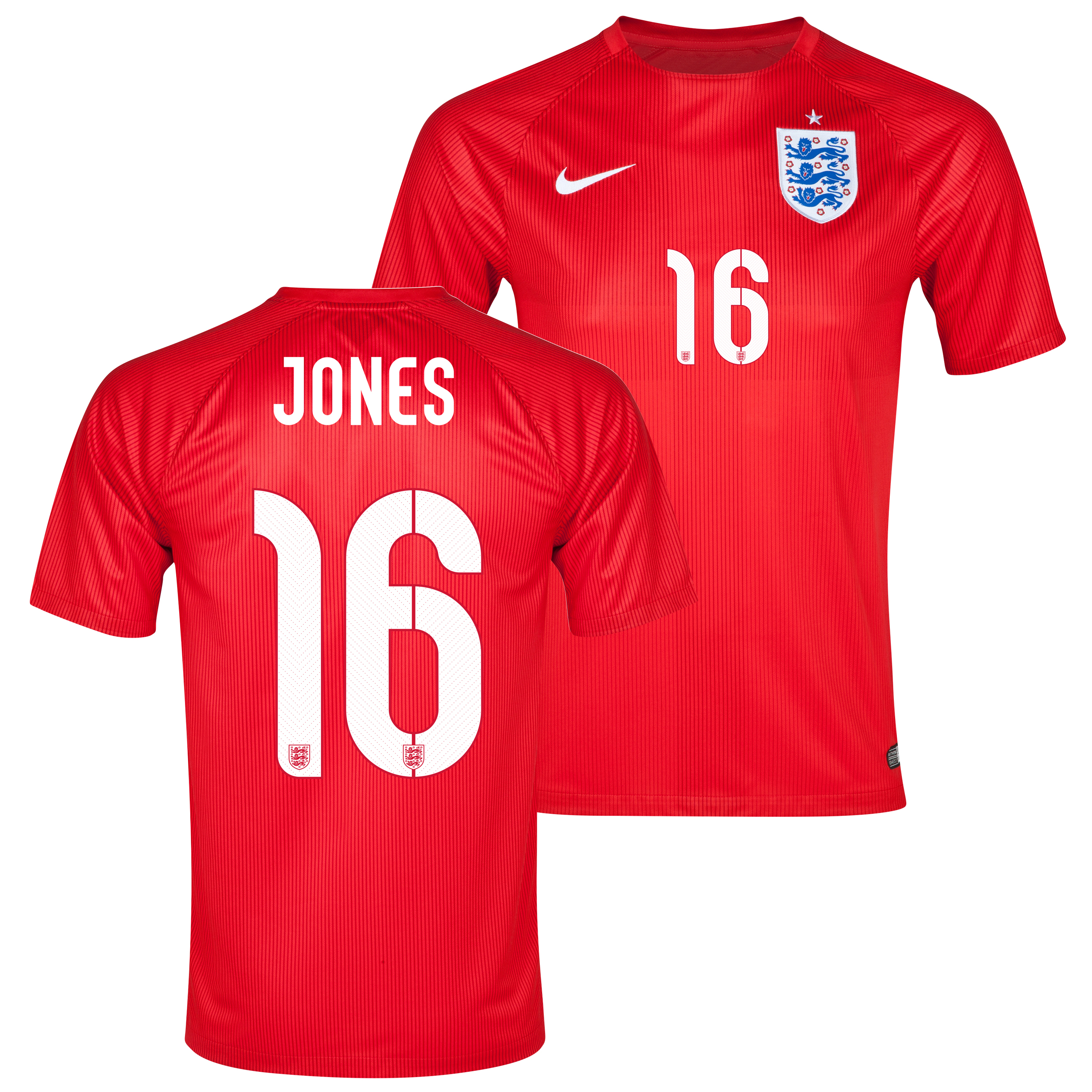 England Away Shirt 2014 - Kids Red with Jones 16 printing