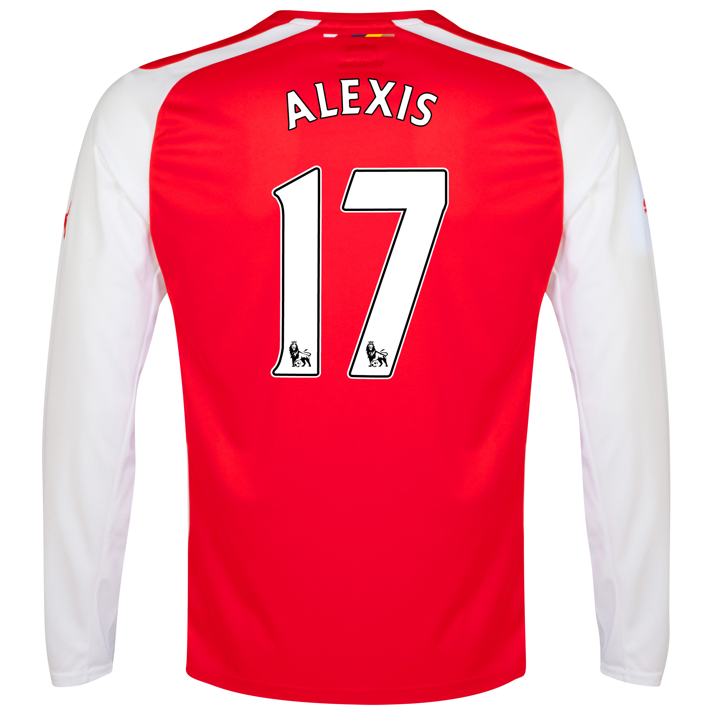 Arsenal Home Shirt 2014/15 - Long Sleeve - Kids Red with Alexis 17 printing