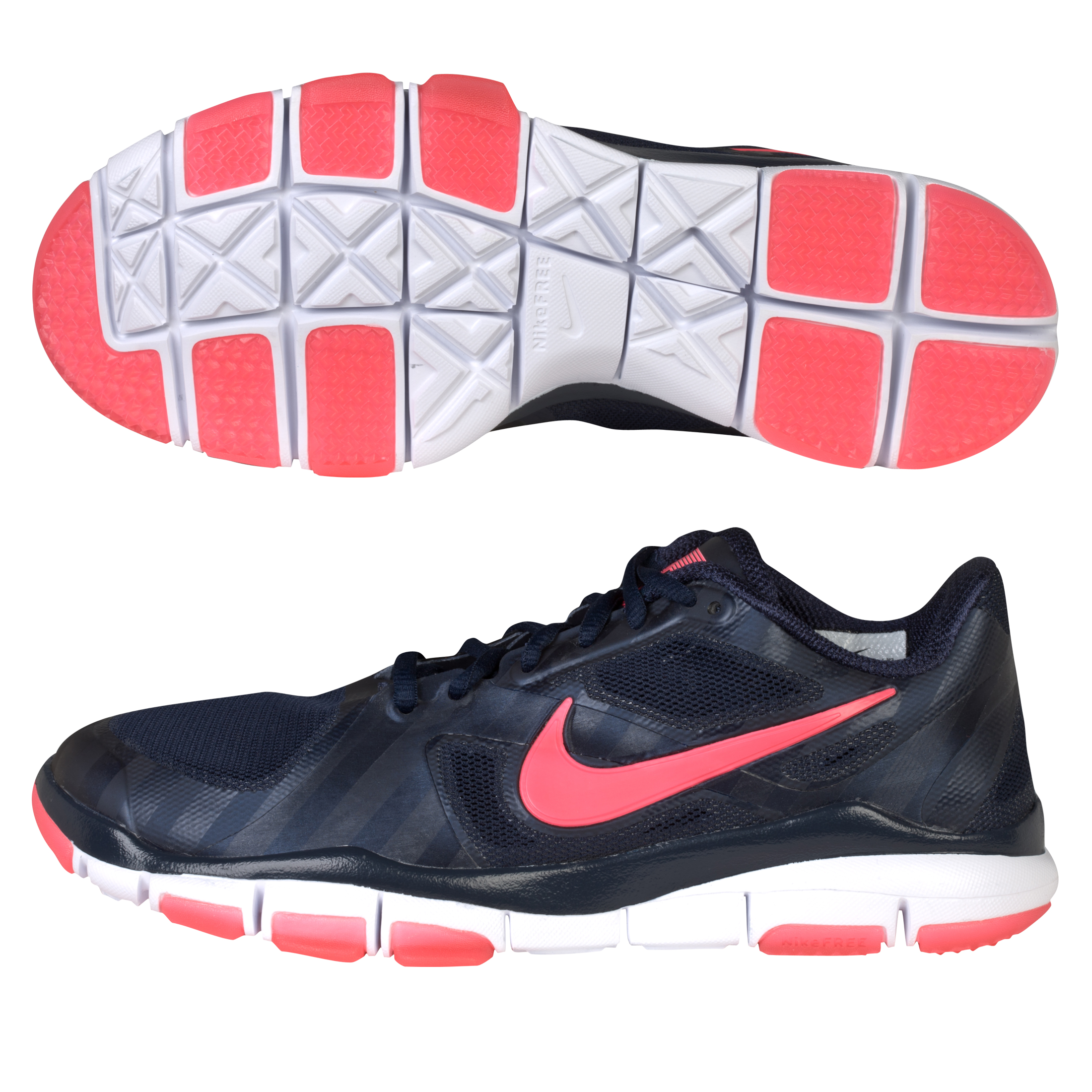 Nike CR7 Free Fuse 2 Trainers - Obsidian/Solar Red/White