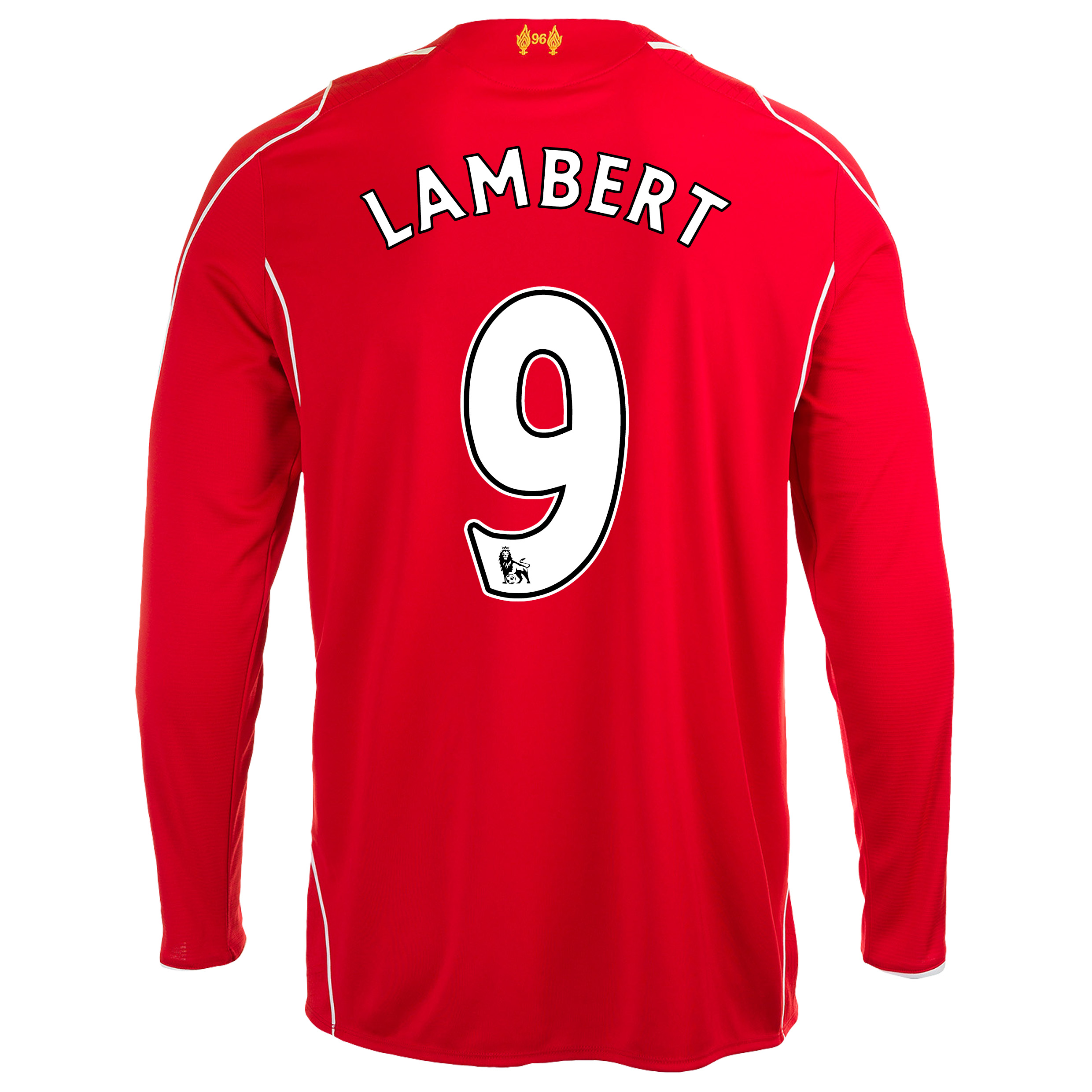 Liverpool Home Shirt 2014/15 Long Sleeve - Kids with Lambert 9 printing