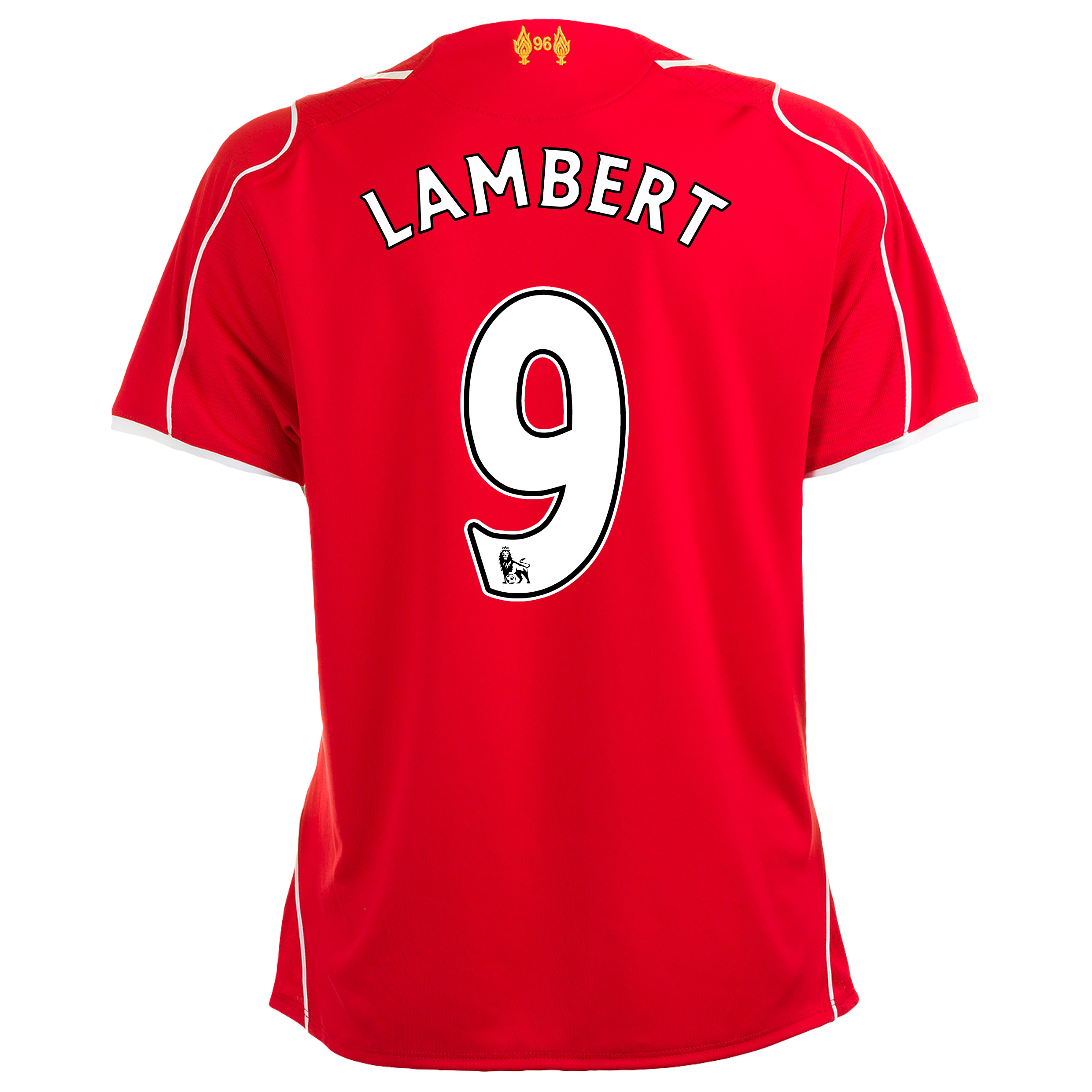Liverpool Home Shirt 2014/15 Womens with Lambert 9 printing